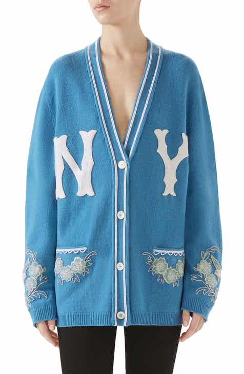 e7c9675f9bd Gucci NY Embroidered Wool Cardigan
