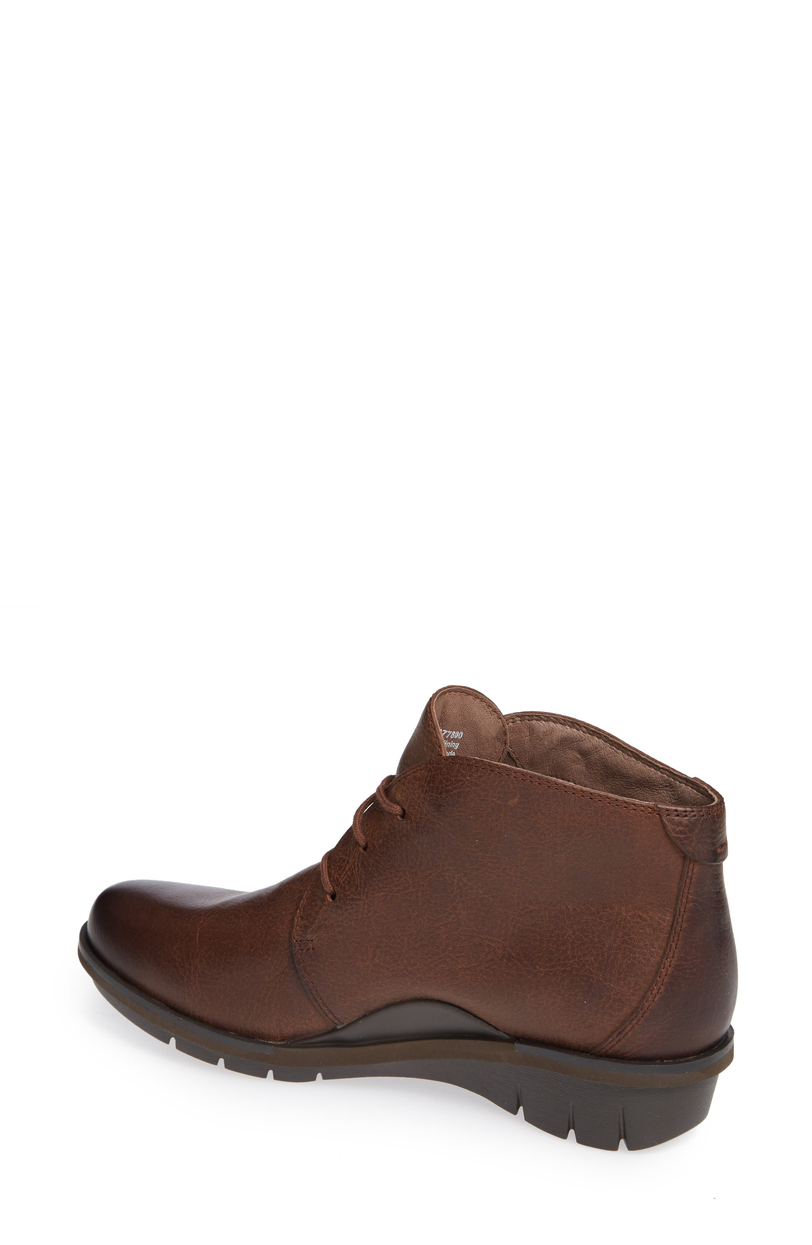 Joy Bootie,                             Alternate thumbnail 2, color,                             Brown Burnished Nubuck Leather