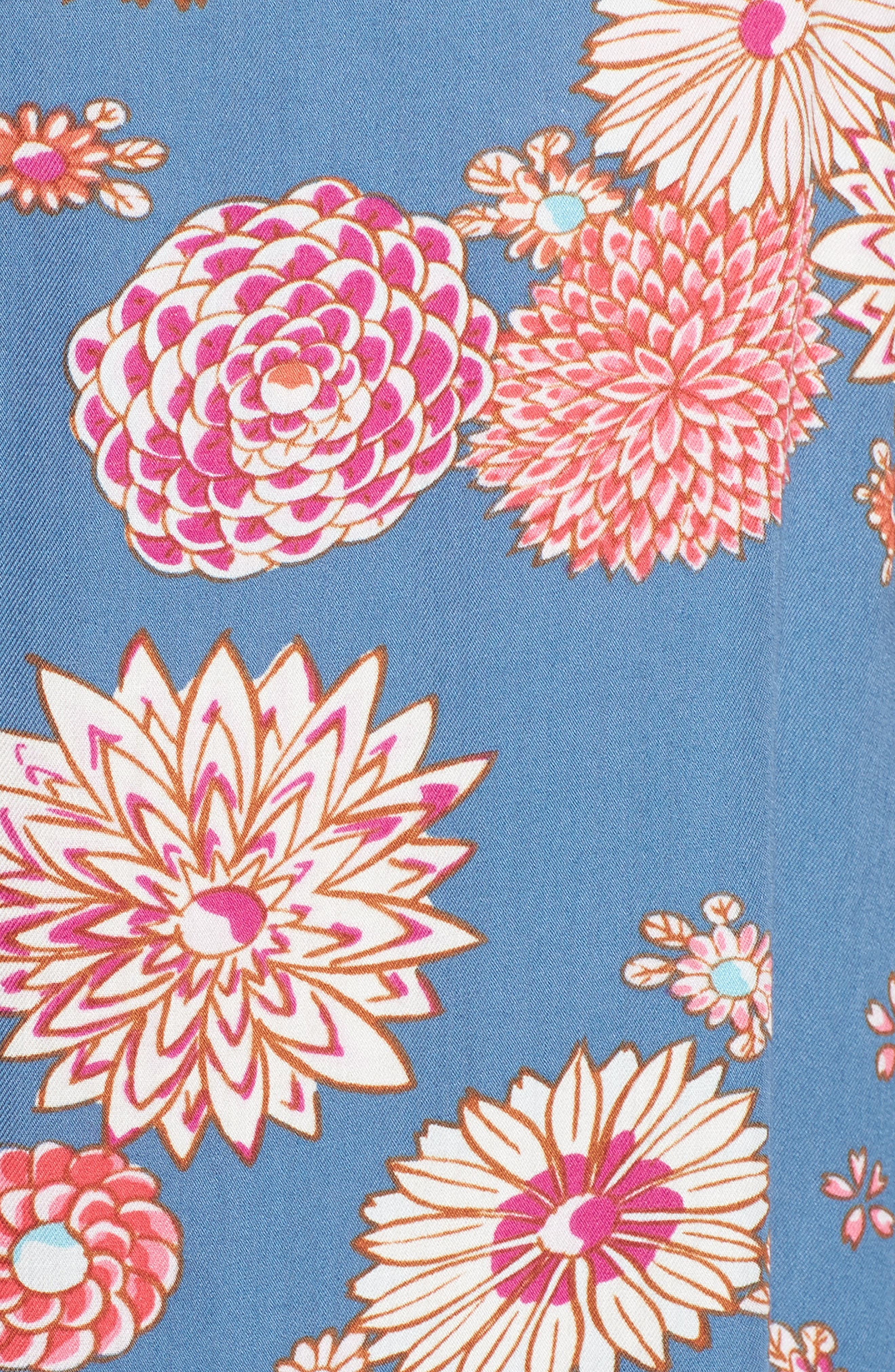 Floral Pajamas,                             Alternate thumbnail 5, color,                             Steallar Blue