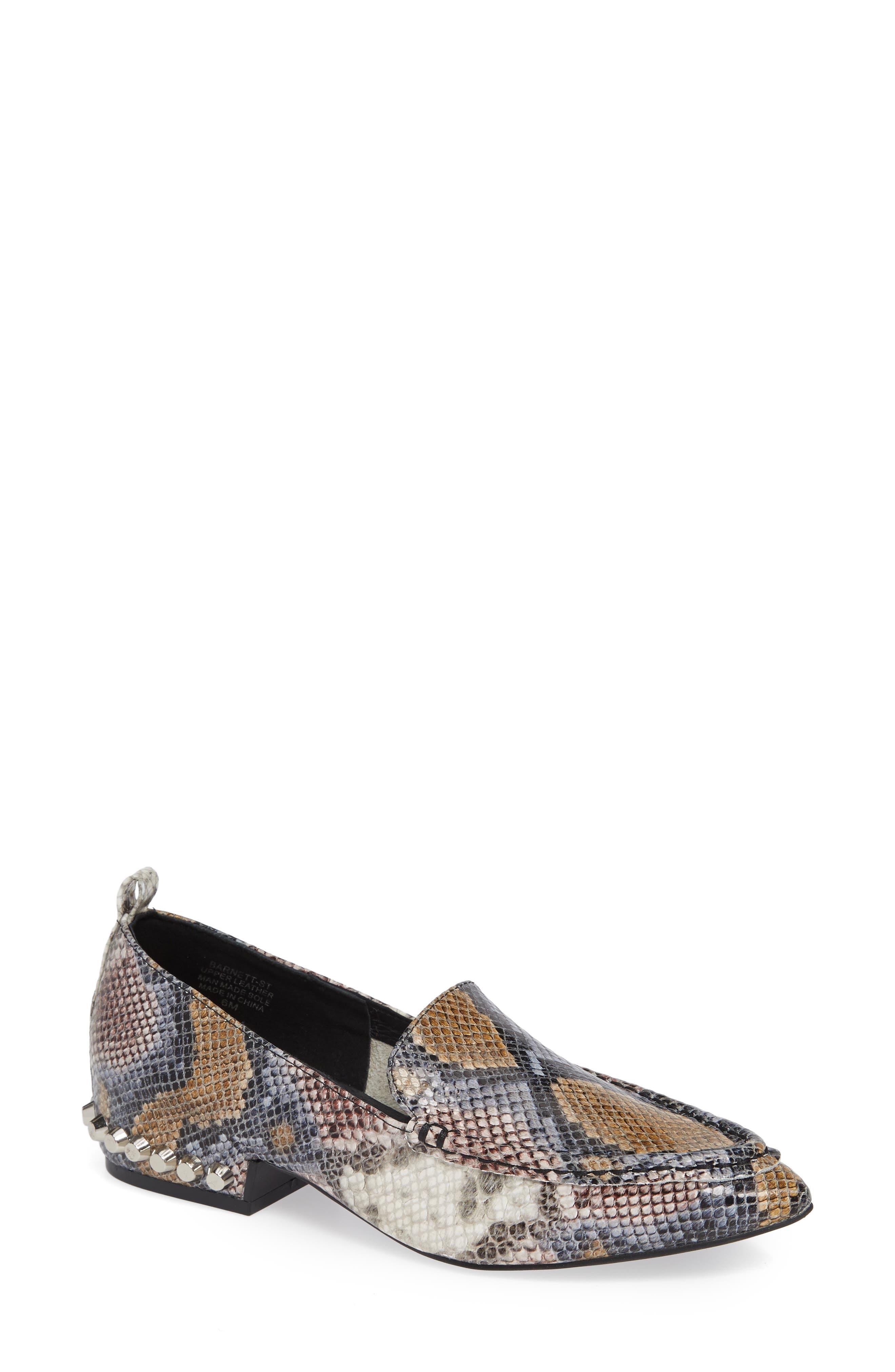 Barnett Studded Loafer,                             Main thumbnail 1, color,                             Multi Snake Silver