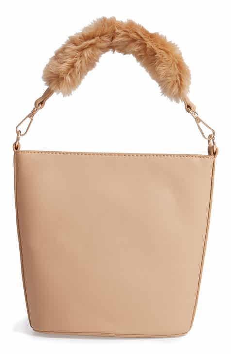 690ebb70372a Leith Faux Fur Handle Medium Crossbody Bag