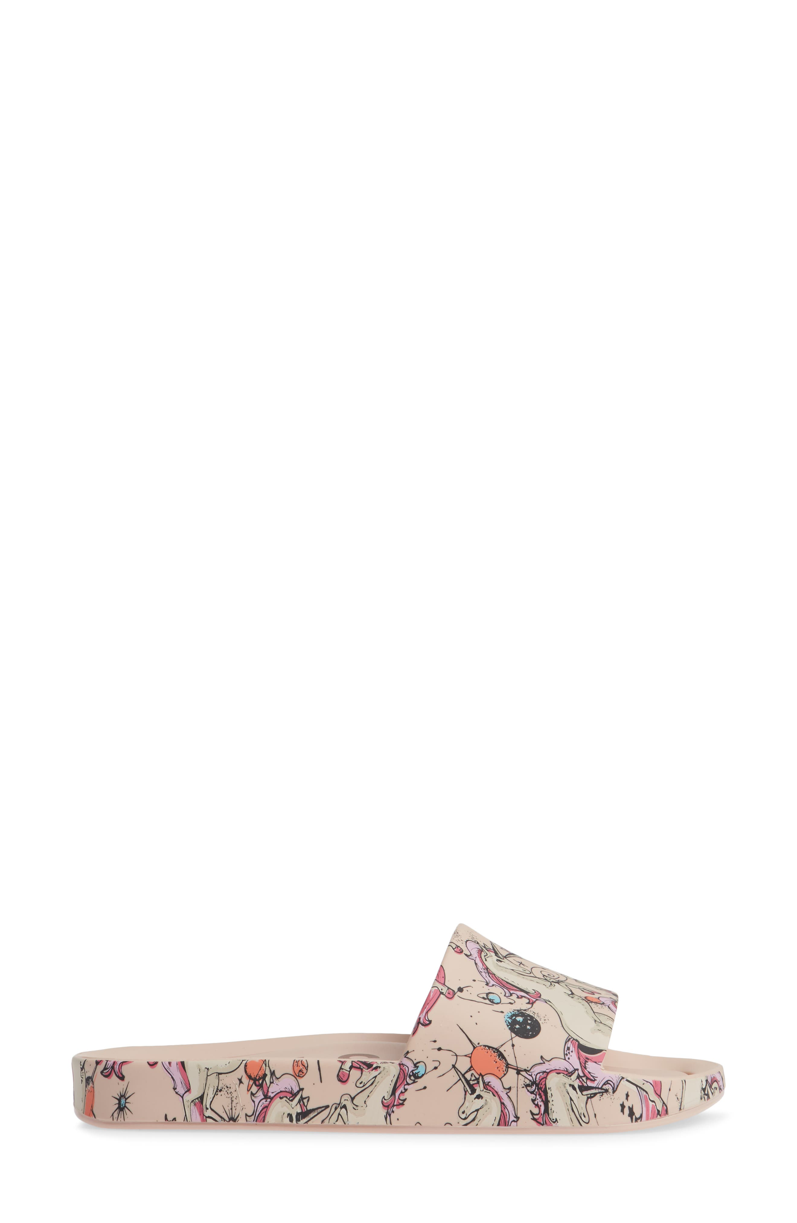 Beach Slide Sandal,                             Alternate thumbnail 5, color,                             Pink Beige
