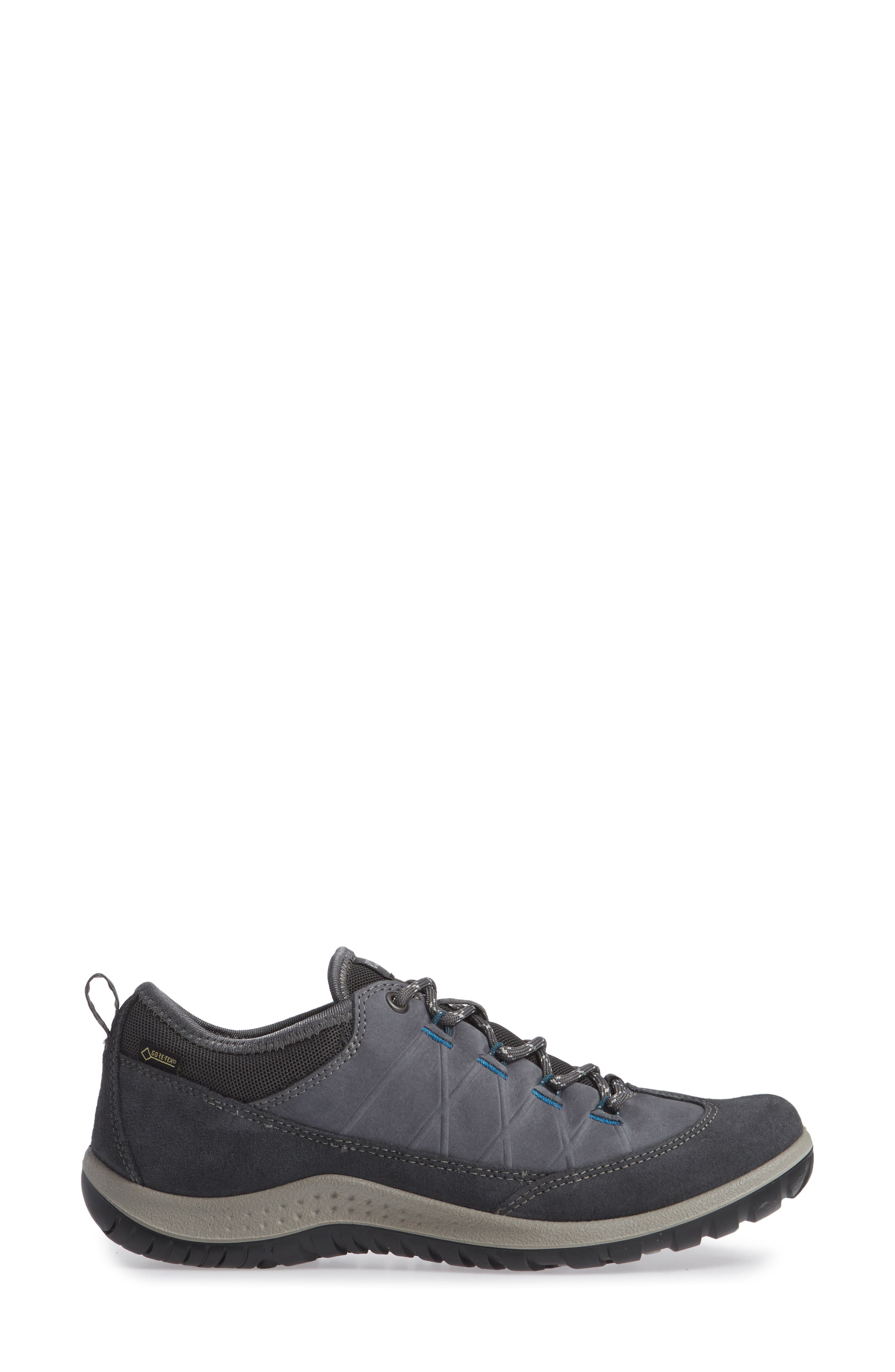 'Aspina GTX' Waterproof Sneaker,                             Alternate thumbnail 3, color,                             Magnet Nubuck Leather