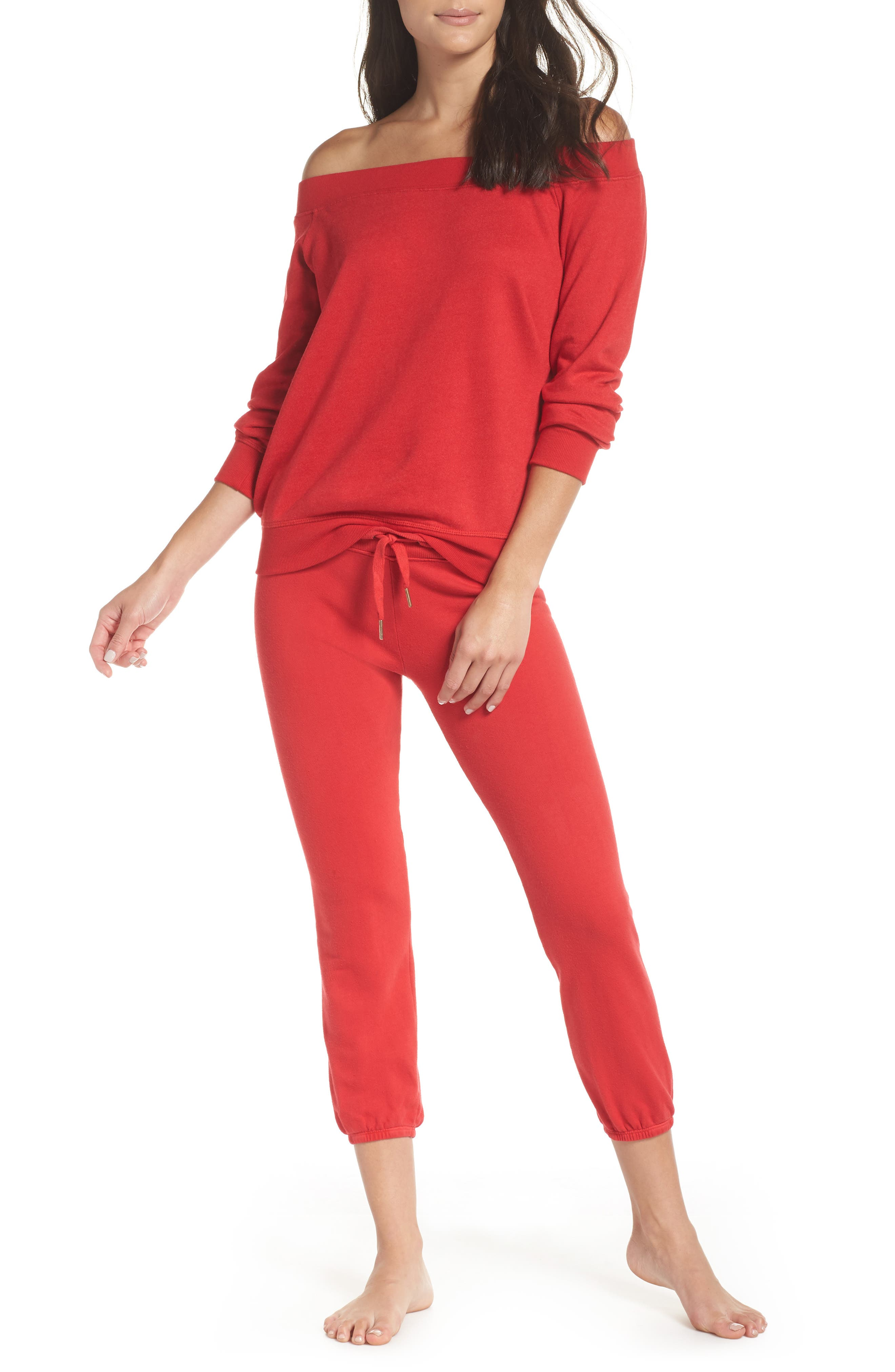 Loung Sweatpants,                             Alternate thumbnail 5, color,                             Poppy
