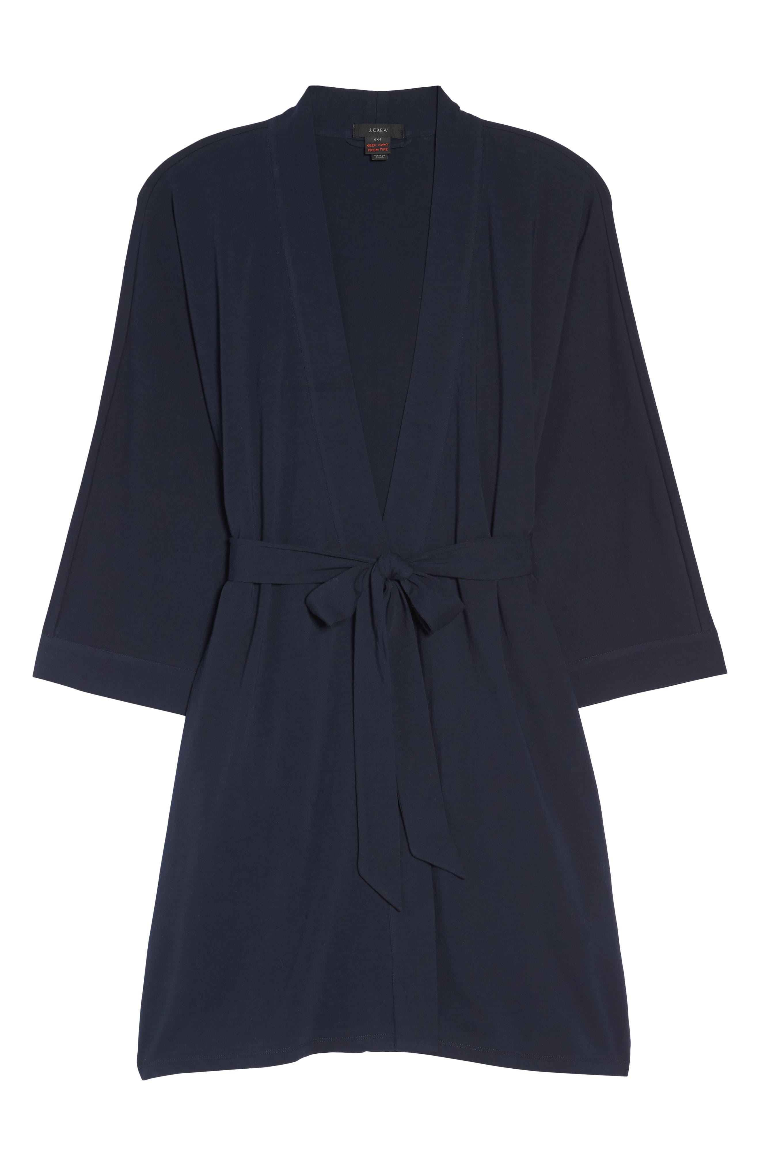 Cotton Robe,                             Alternate thumbnail 6, color,                             Navy