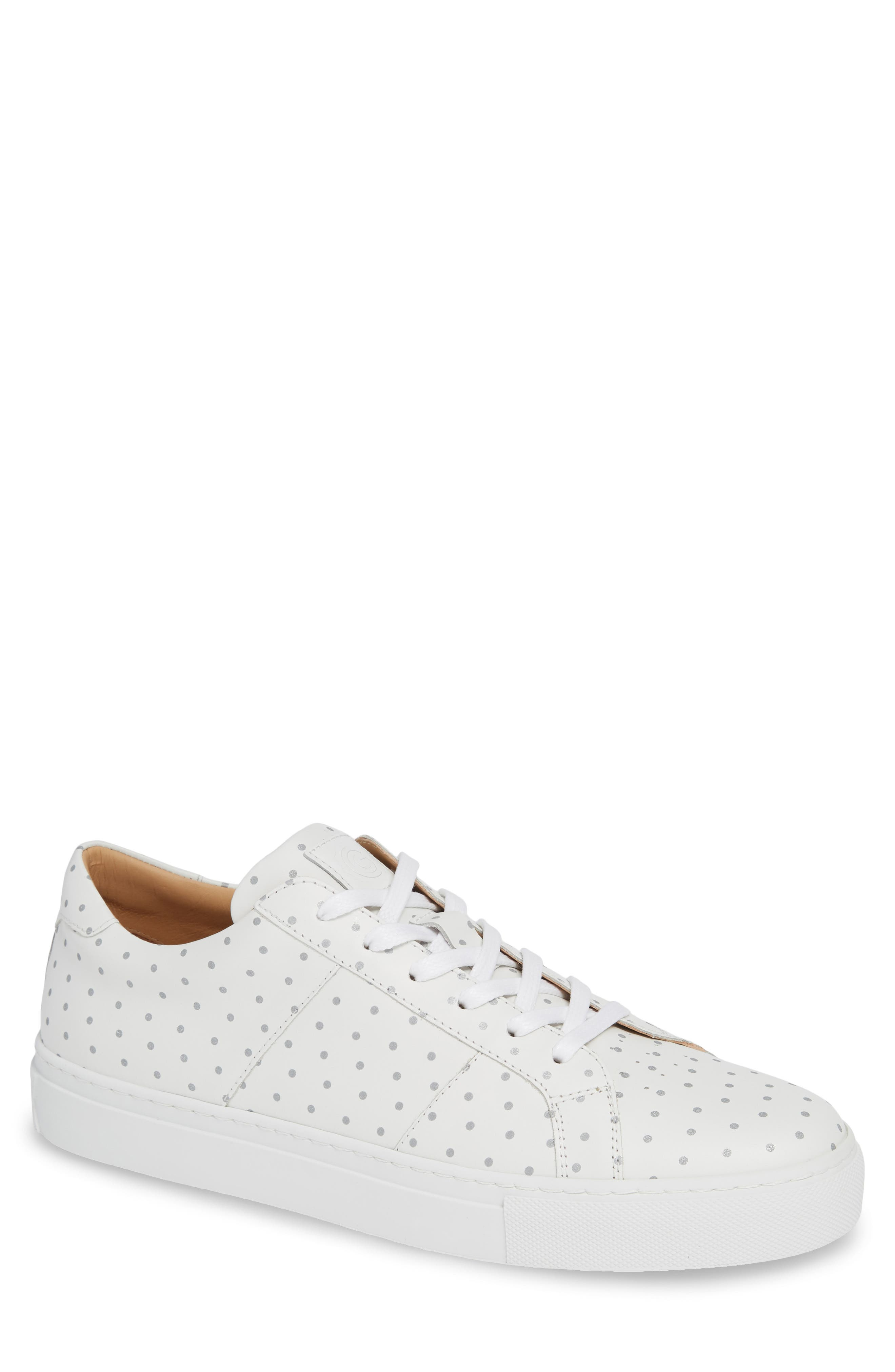 GREATS Royale Dots Low Top Sneaker in White W/ 3M Dots