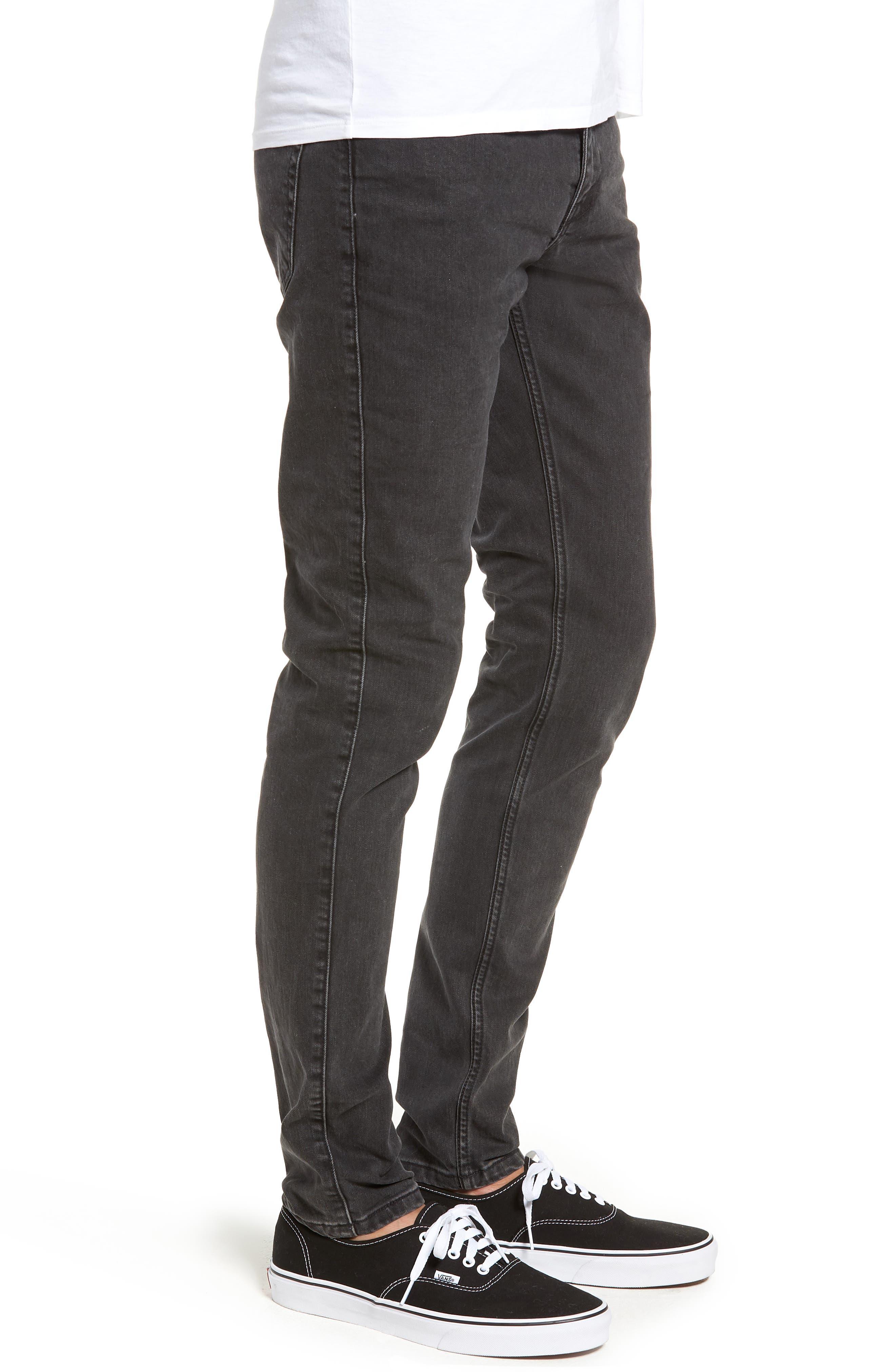 Clark Slim Straight Leg Jeans,                             Alternate thumbnail 3, color,                             Black Vintage