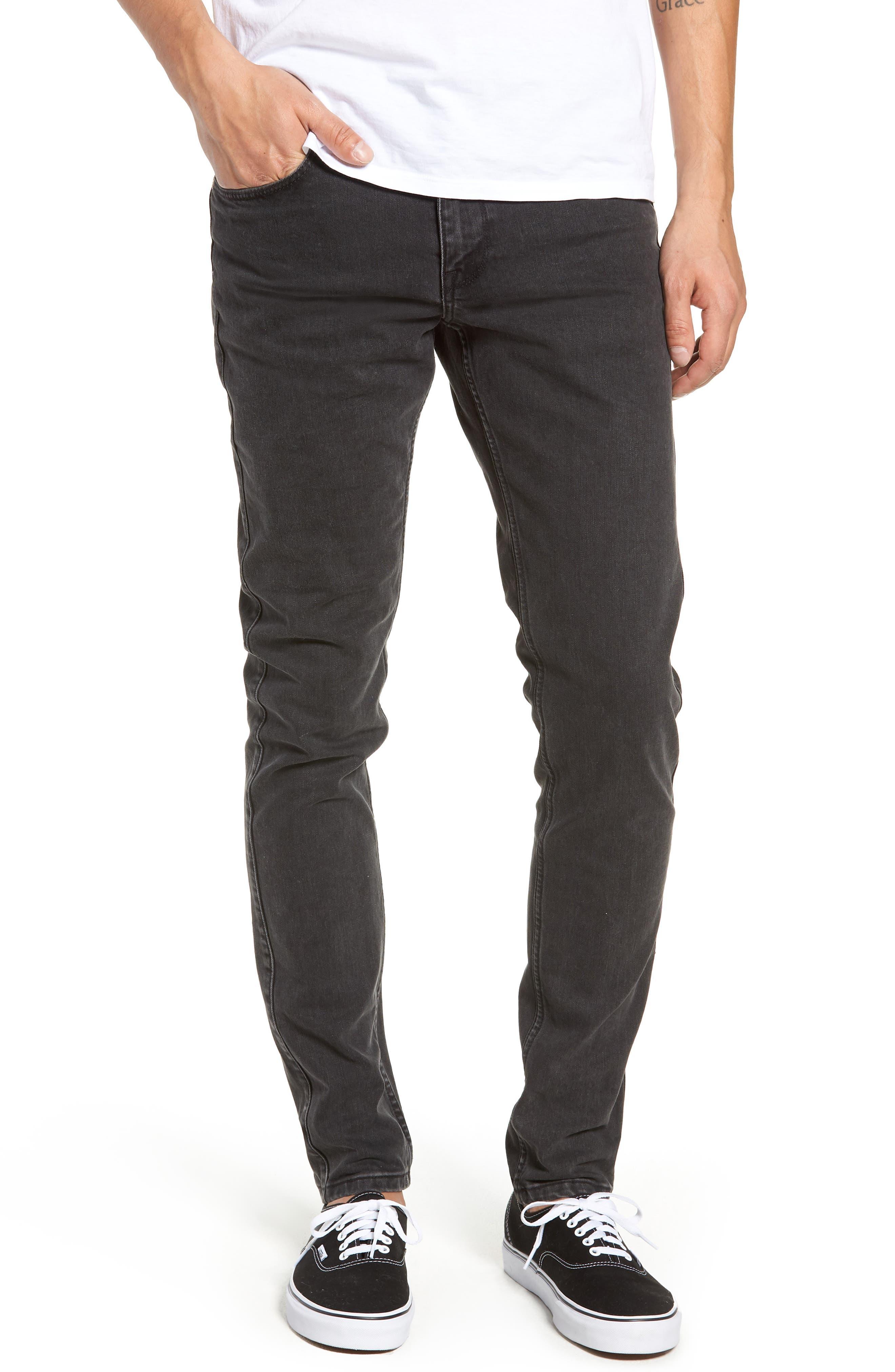 Clark Slim Straight Leg Jeans,                             Main thumbnail 1, color,                             Black Vintage