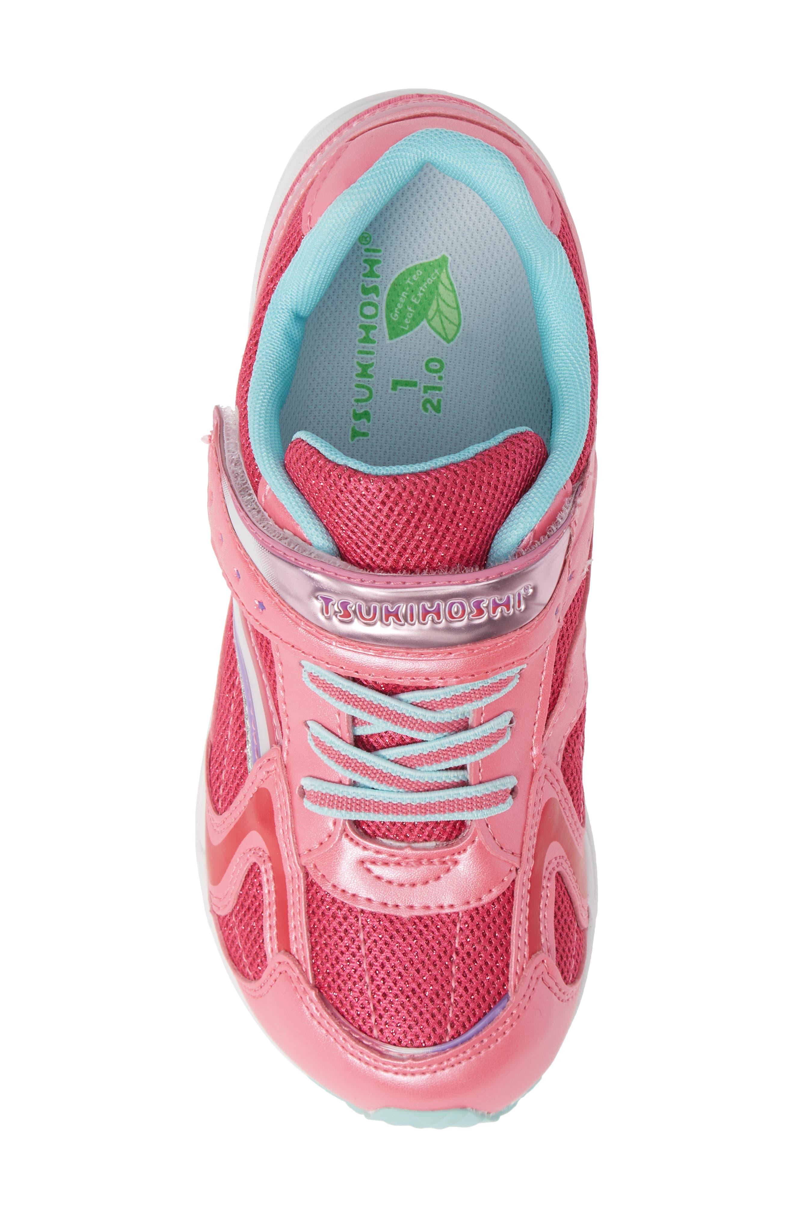 Glitz Washable Sneaker,                             Alternate thumbnail 4, color,                             Hot Pink/ Mint