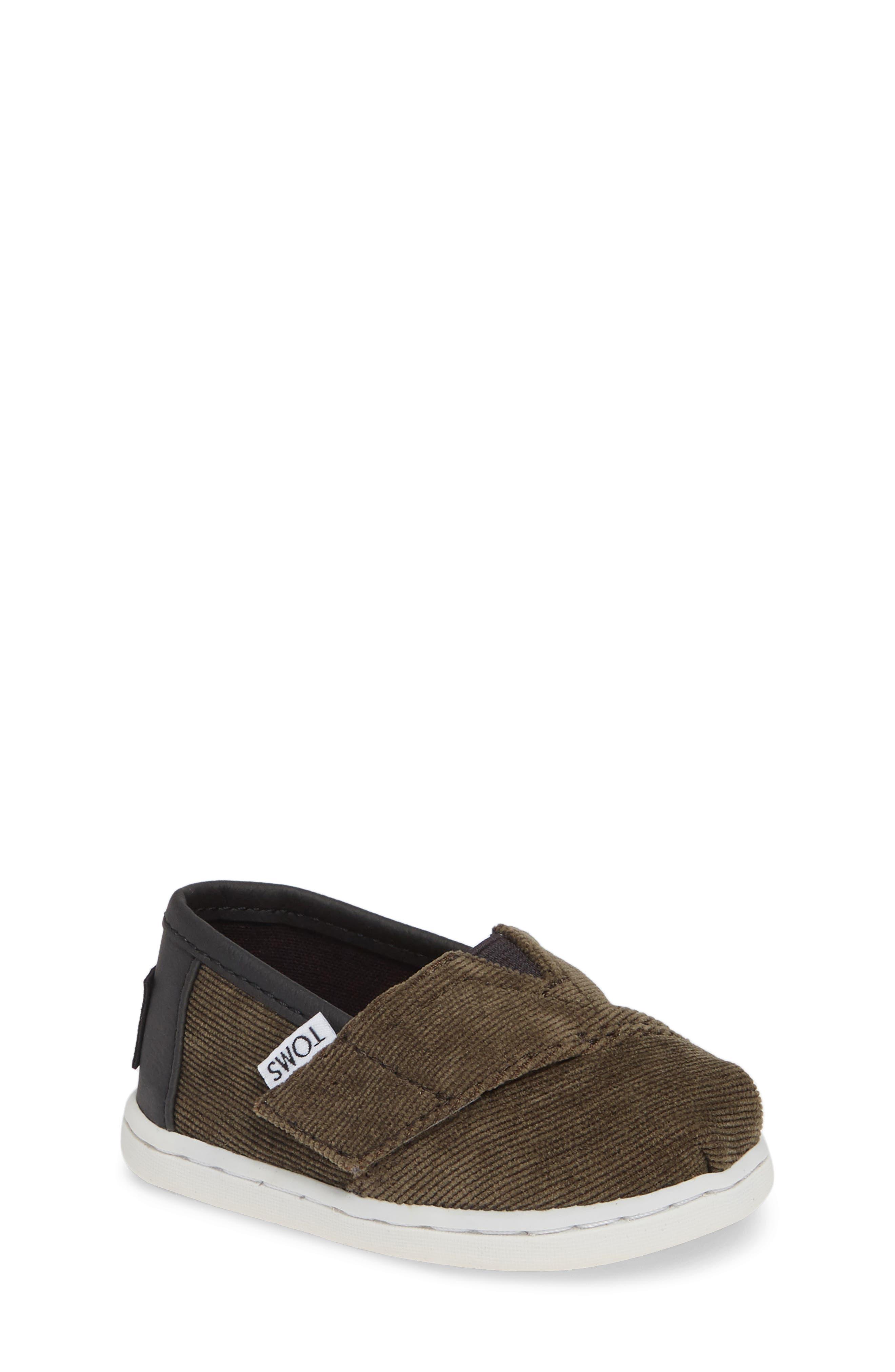 Classic Alpargata Slip-On,                         Main,                         color, Olive Corduroy Leather