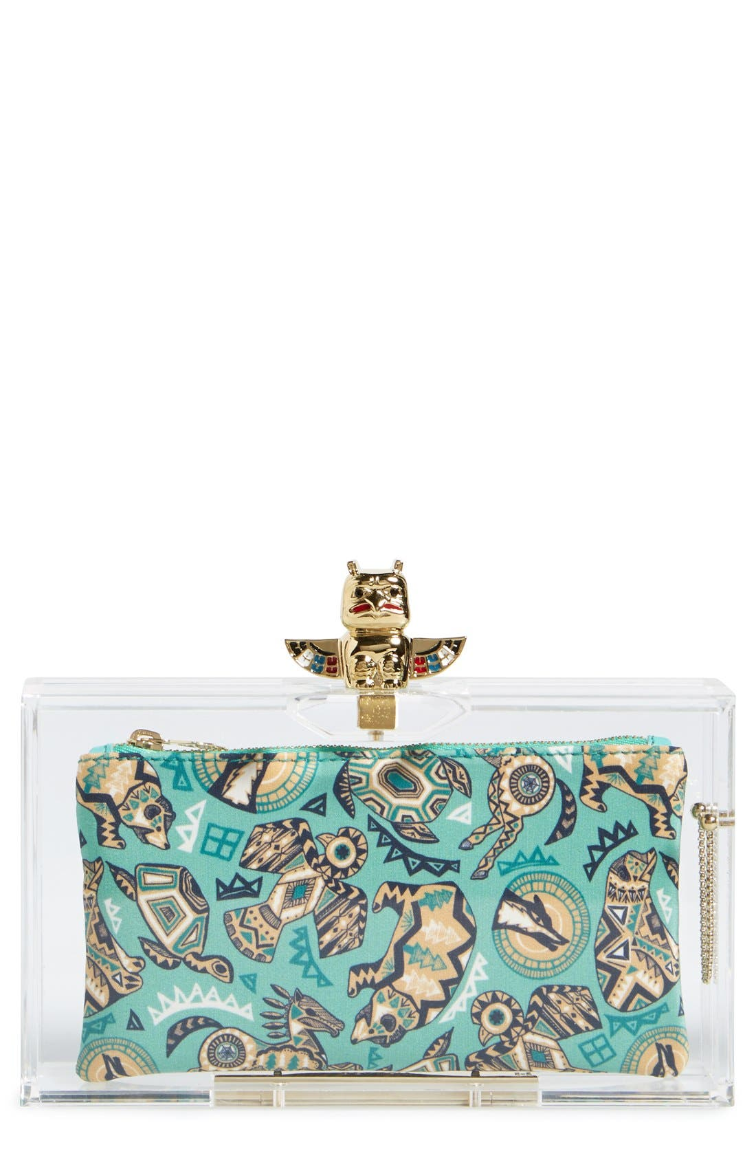 Alternate Image 1 Selected - Charlotte Olympia 'Pandora' Clutch with Zip Pouches