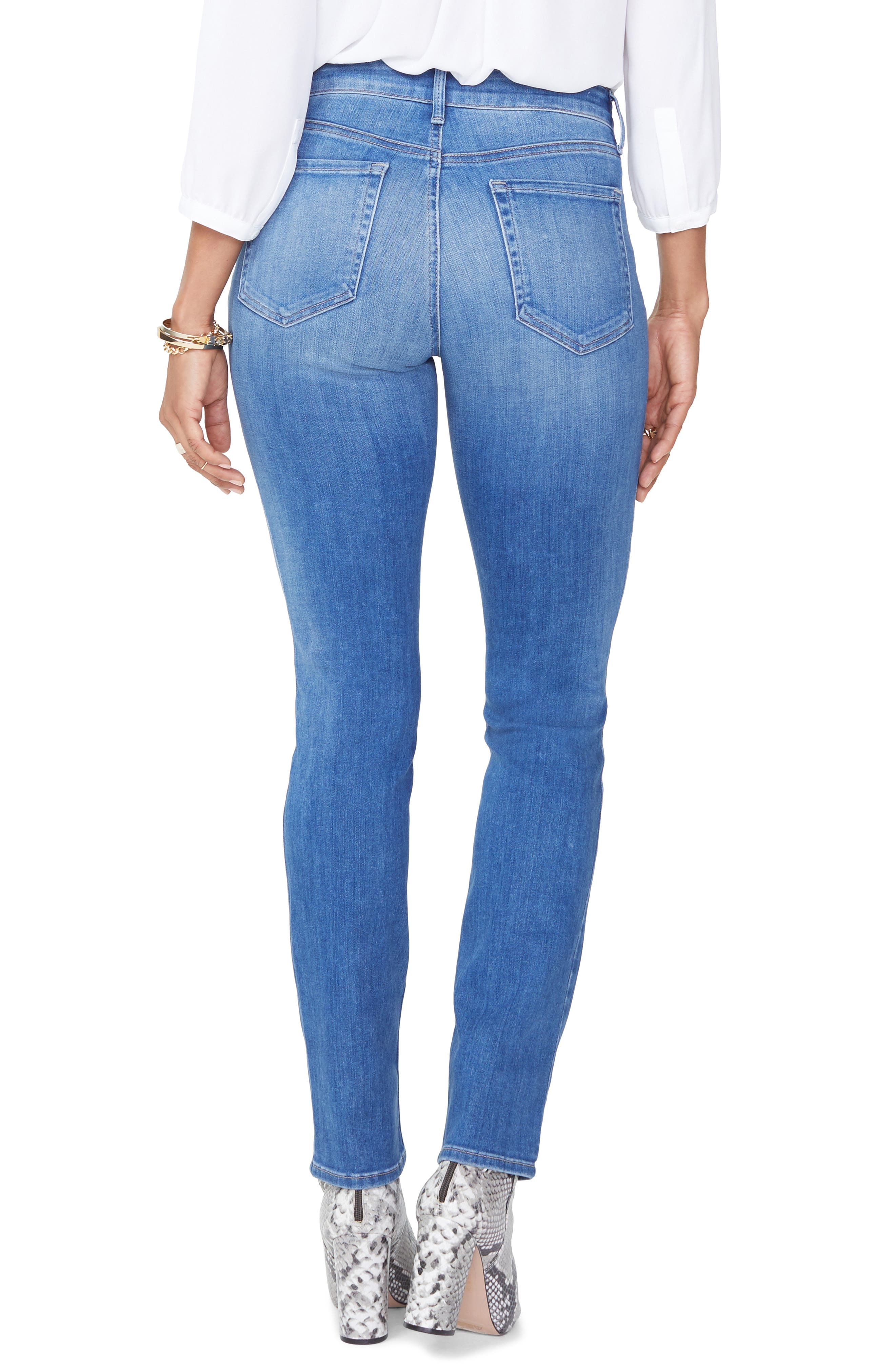 Sheri Ripped Slim Stretch Ankle Jeans,                             Alternate thumbnail 2, color,                             Burton