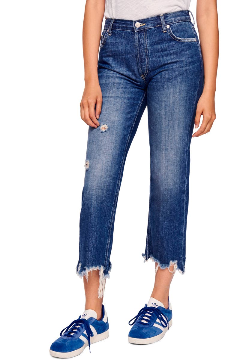 Maggie Ripped Crop Straight Leg Jeans