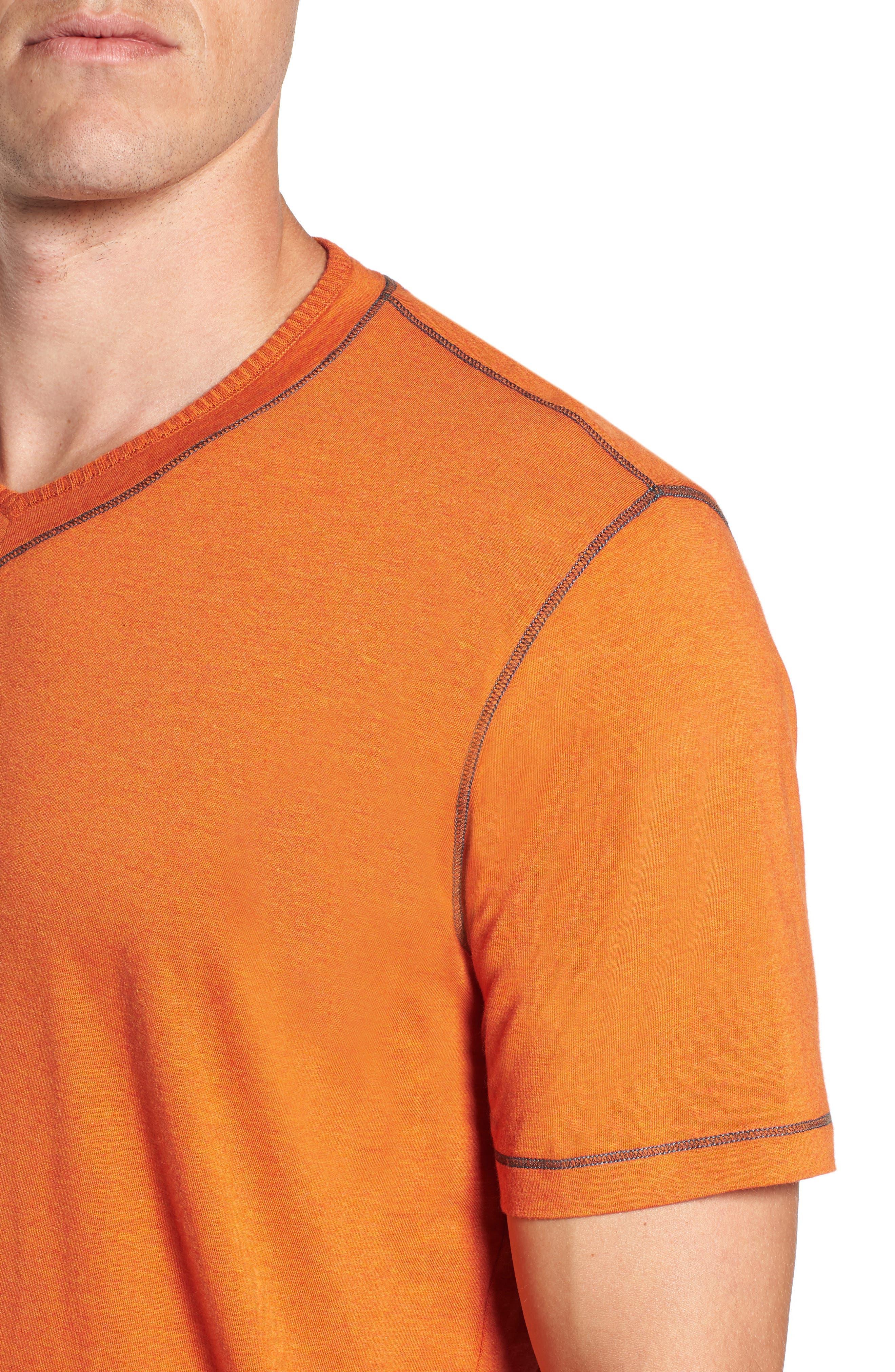 Traveler V-Neck T-Shirt,                             Alternate thumbnail 5, color,                             Orange