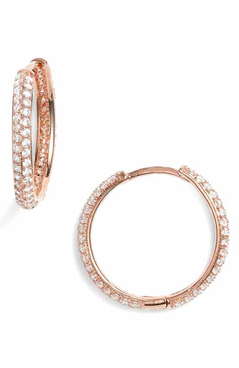 Nordstrom Small Pavé Hoop Earrings