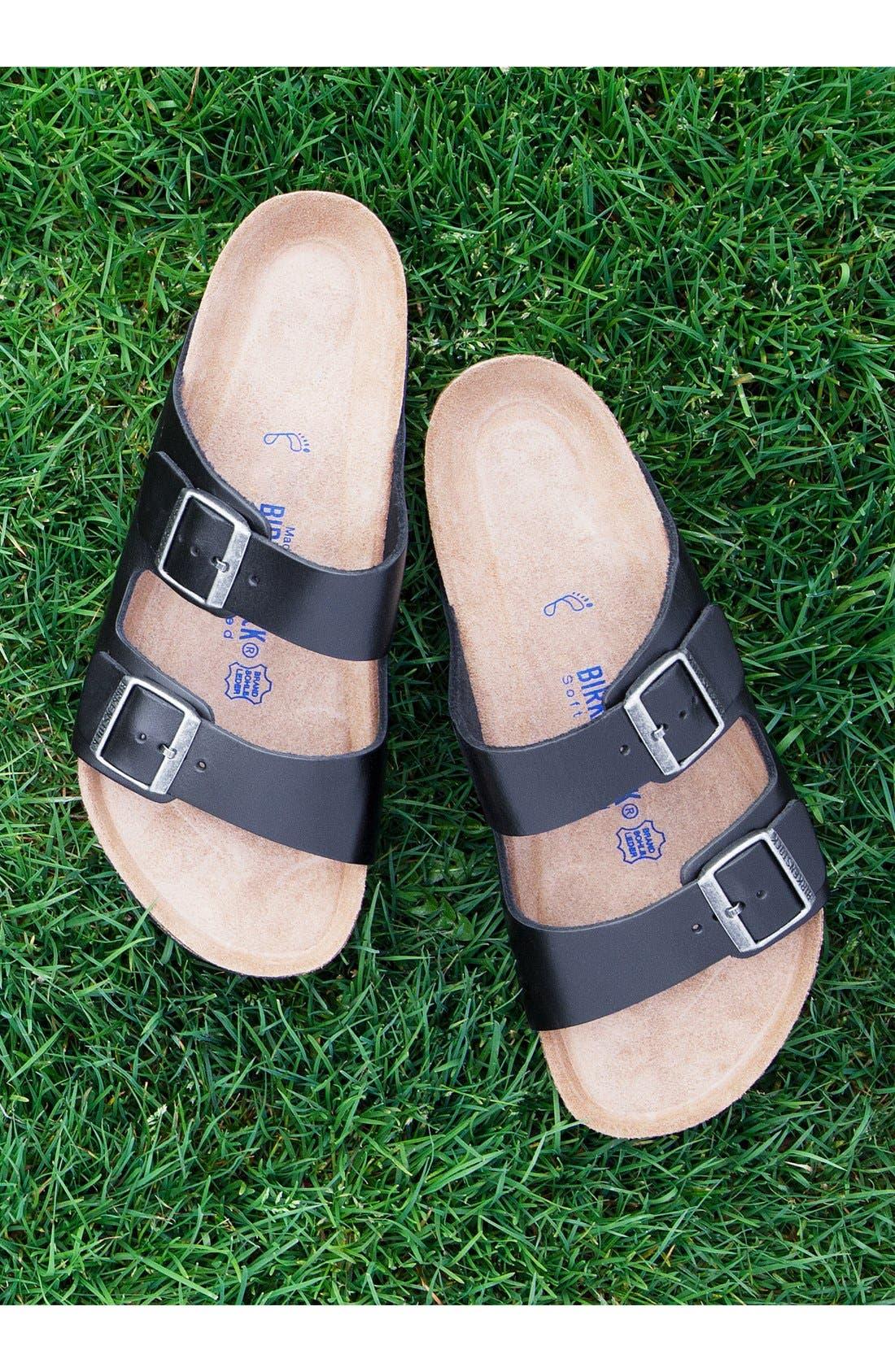 Alternate Image 7  - Birkenstock 'Arizona Soft' Sandal   (Men)