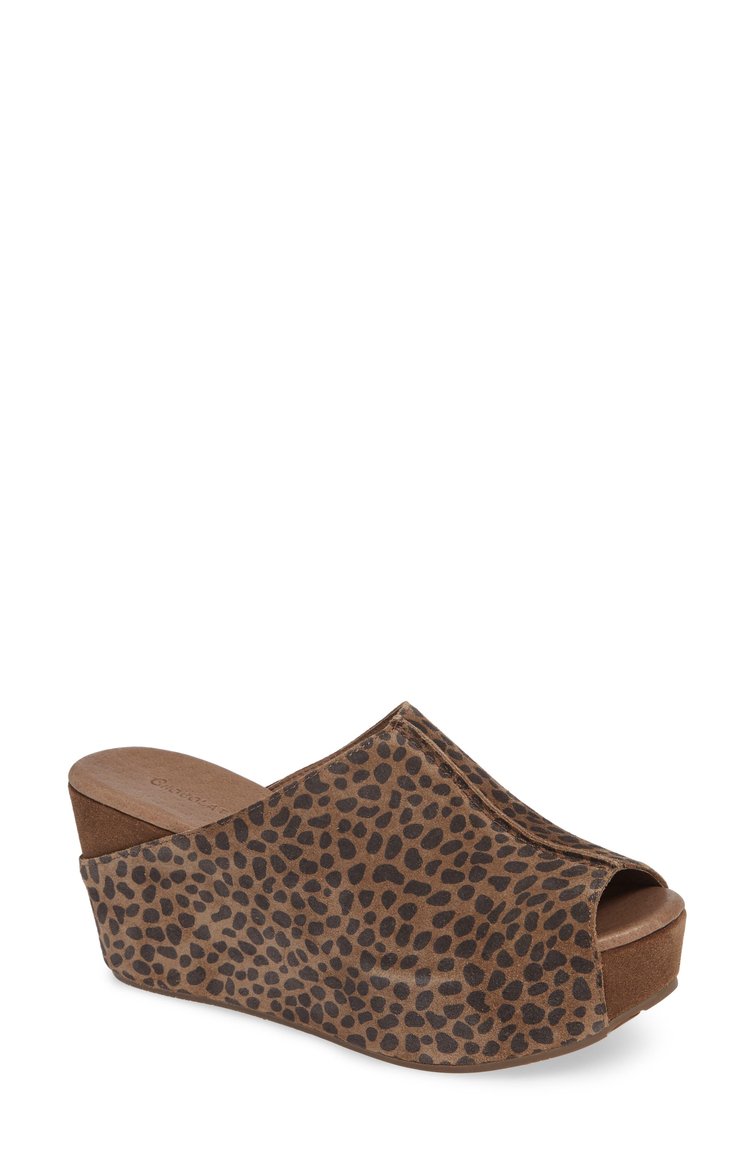 Wynn Peep Toe Mule,                         Main,                         color, Leopard Suede