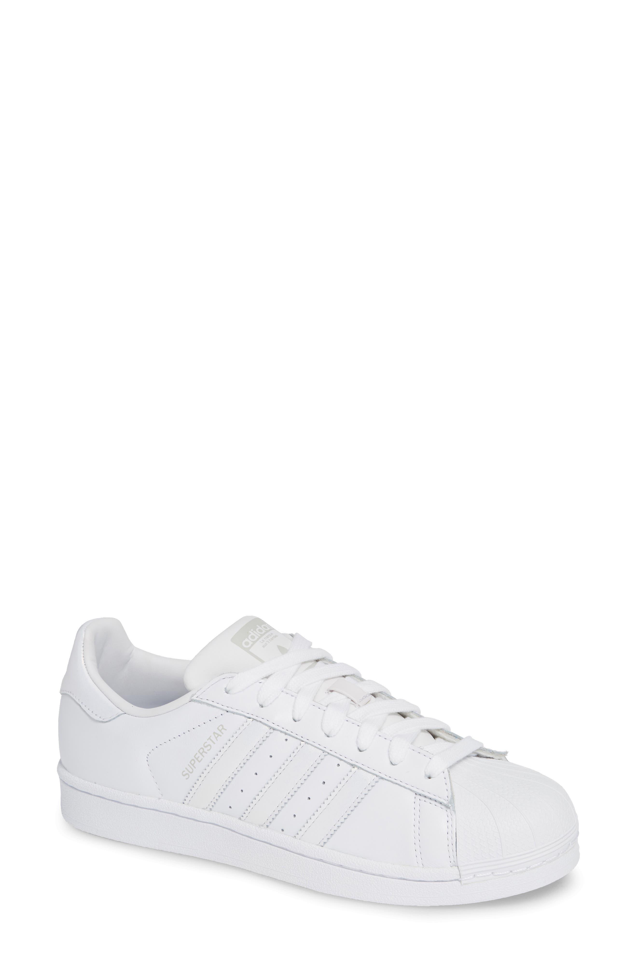 Superstar Sneaker,                             Main thumbnail 1, color,                             White/ White/ Grey One
