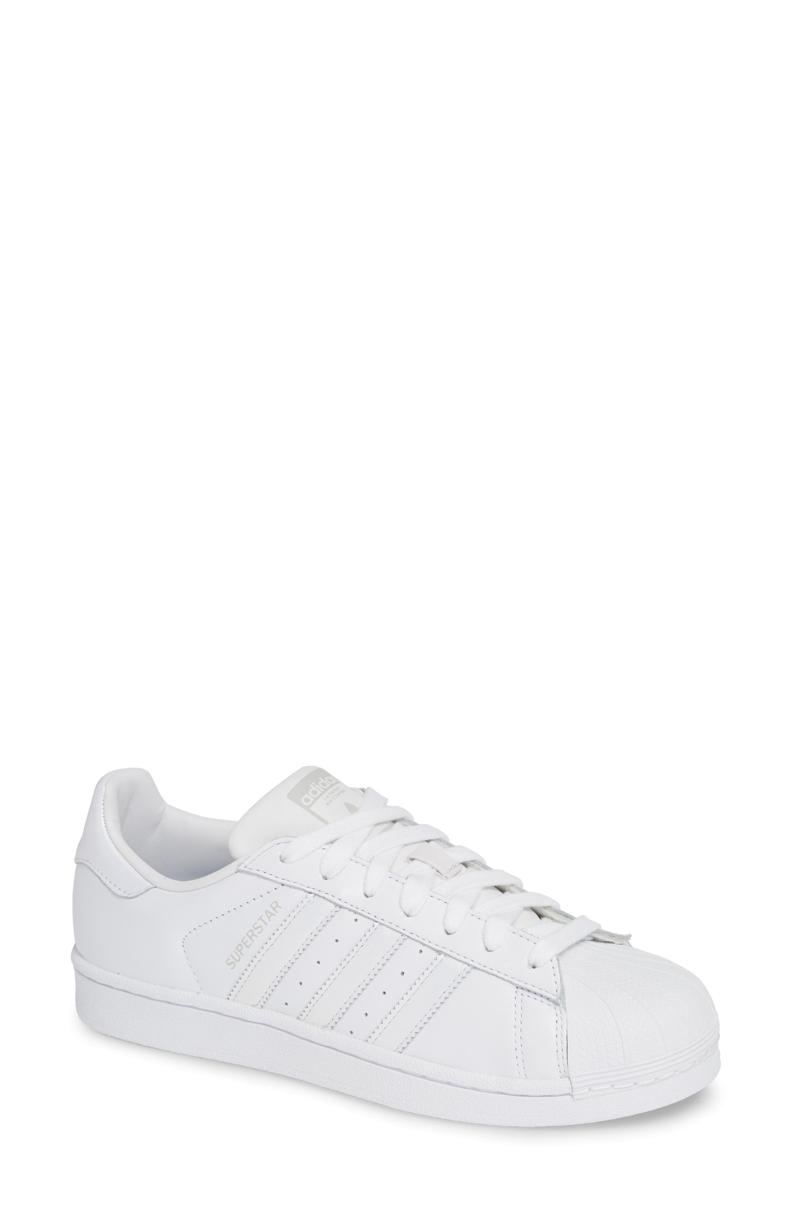 Superstar Sneaker,                         Main,                         color, White/ White/ Grey One