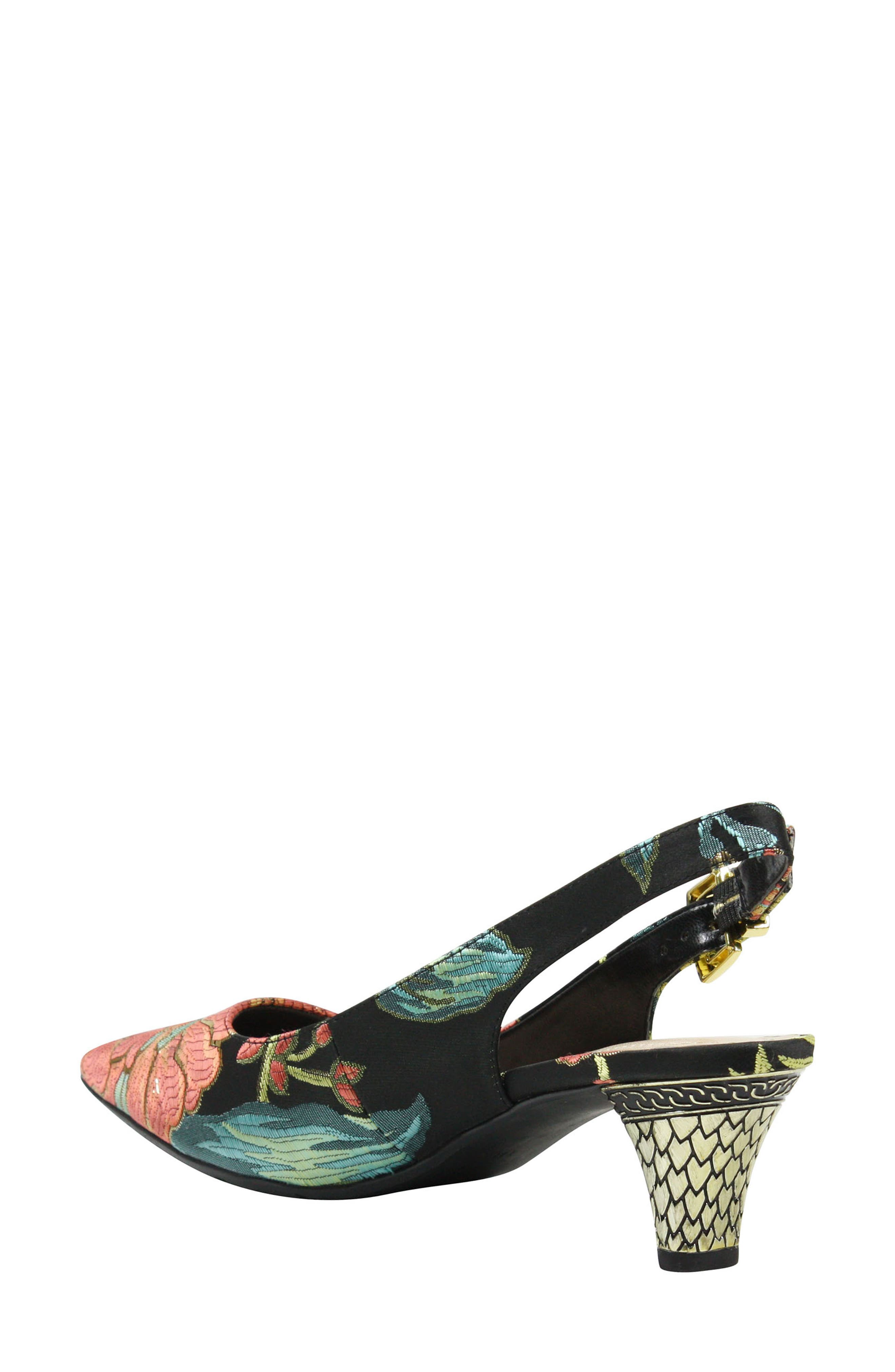 Mayetta Slingback Pump,                             Alternate thumbnail 2, color,                             Black/ Teal/ Coral Multi