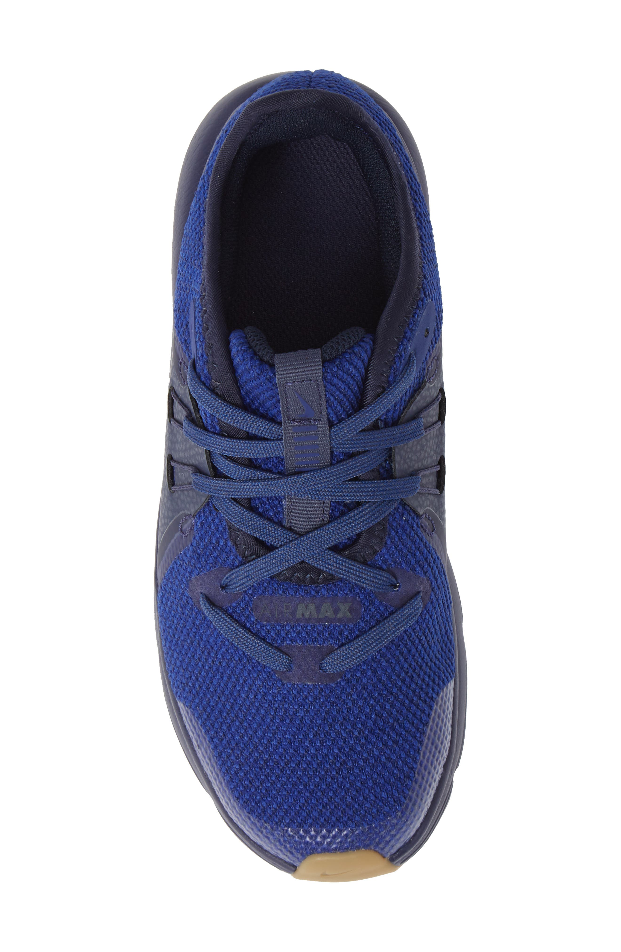 Air Max Sequent 3 GS Running Shoe,                             Alternate thumbnail 3, color,                             Obsidian/ Blue/ Indigo