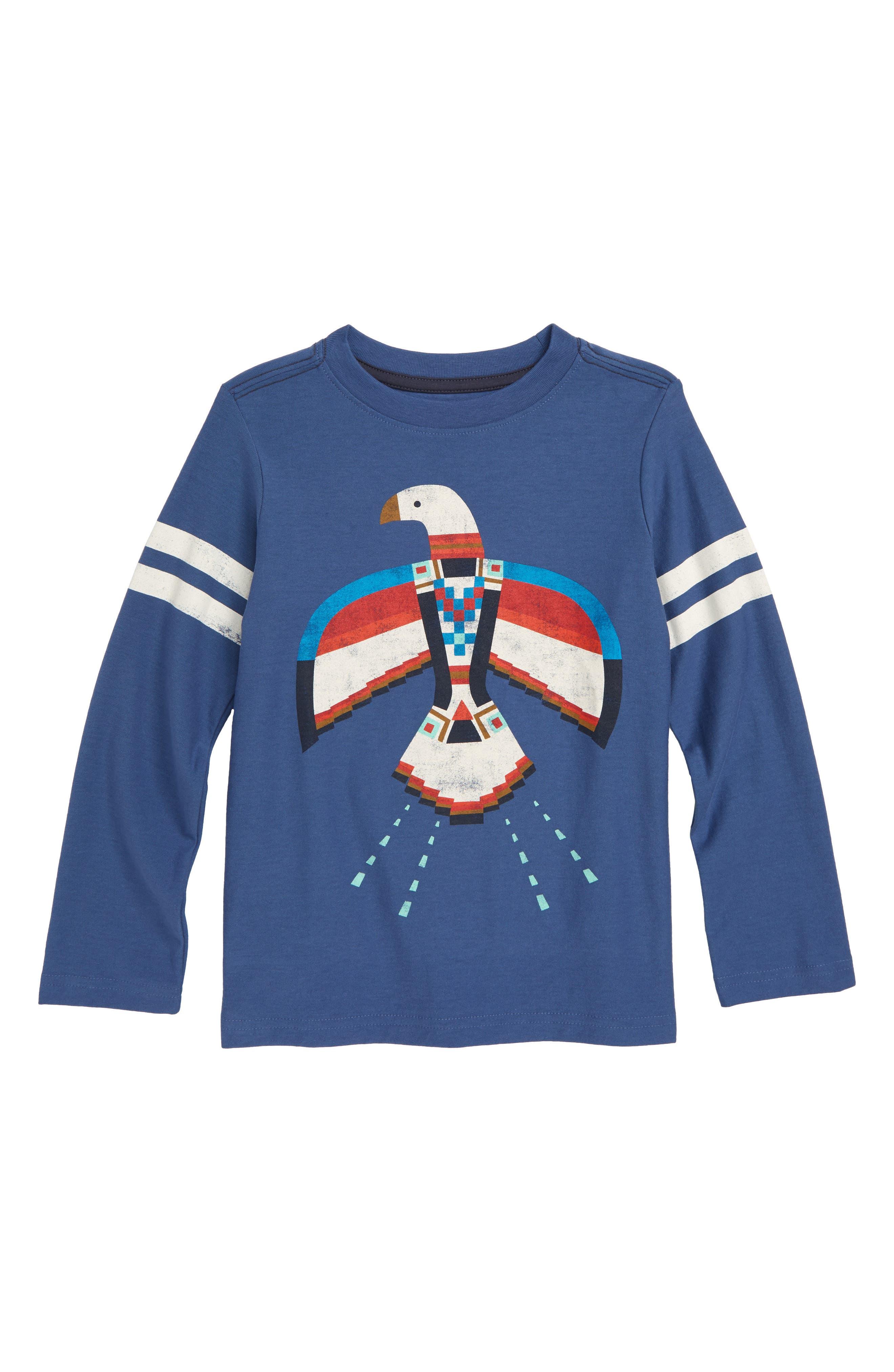 Dakota Bird Graphic T-Shirt,                             Main thumbnail 1, color,                             Cobalt
