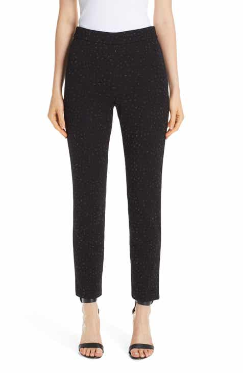 St. John Collection Blister Knit Metallic Jacquard Pants by ST. JOHN COLLECTION