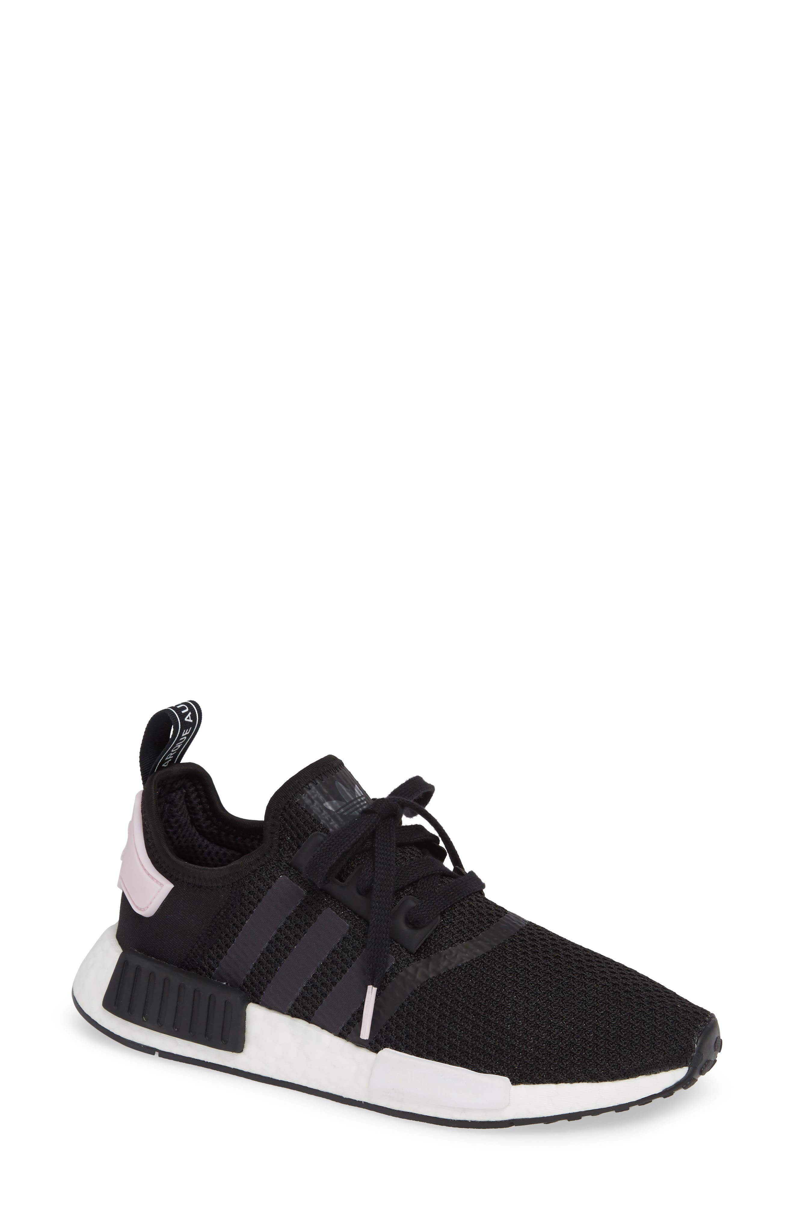 WOMEN'S NMD R1 CASUAL SHOES, BLACK