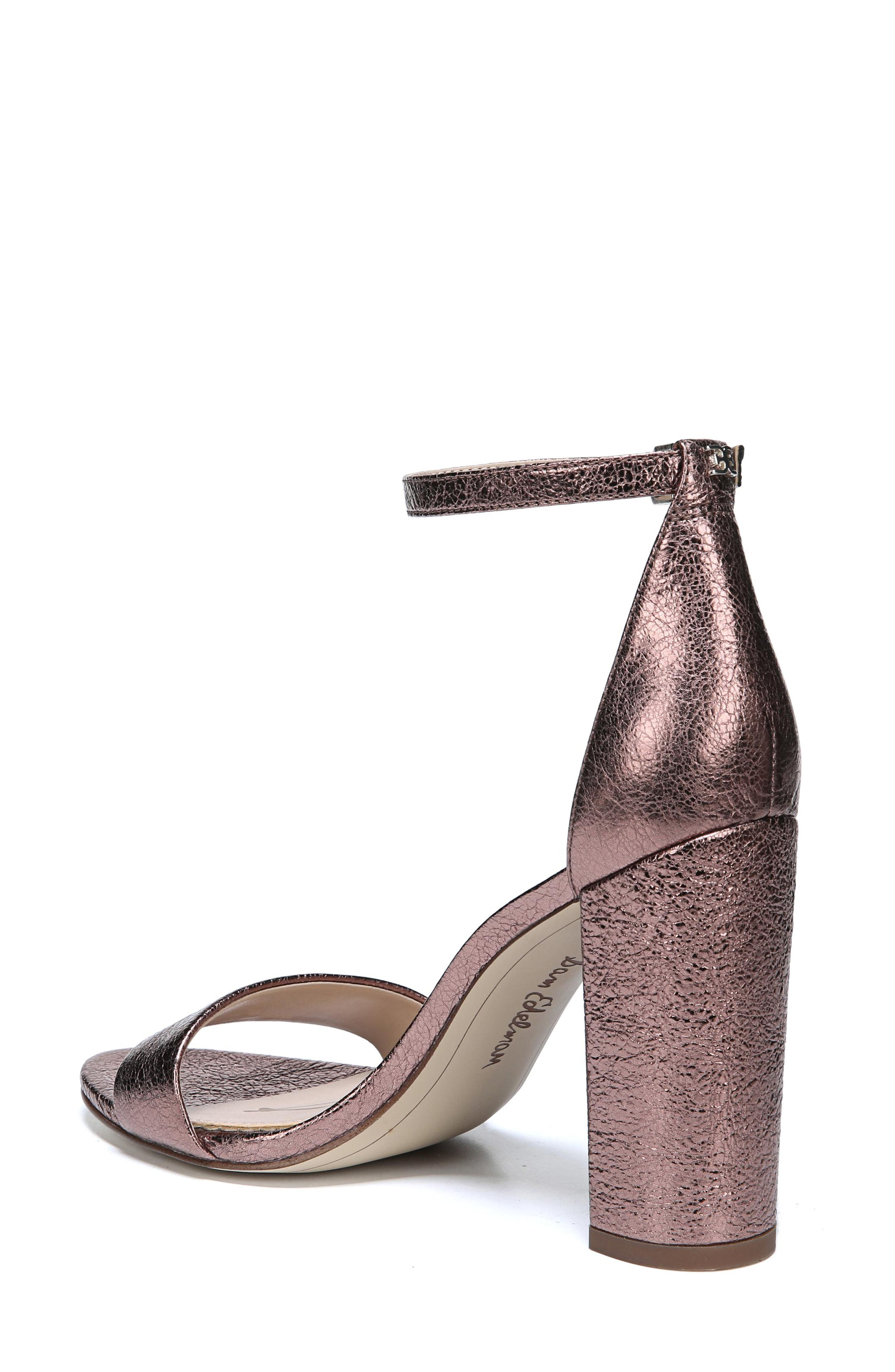 Yaro Ankle Strap Sandal,                             Alternate thumbnail 2, color,                             Cameo Pink Suede