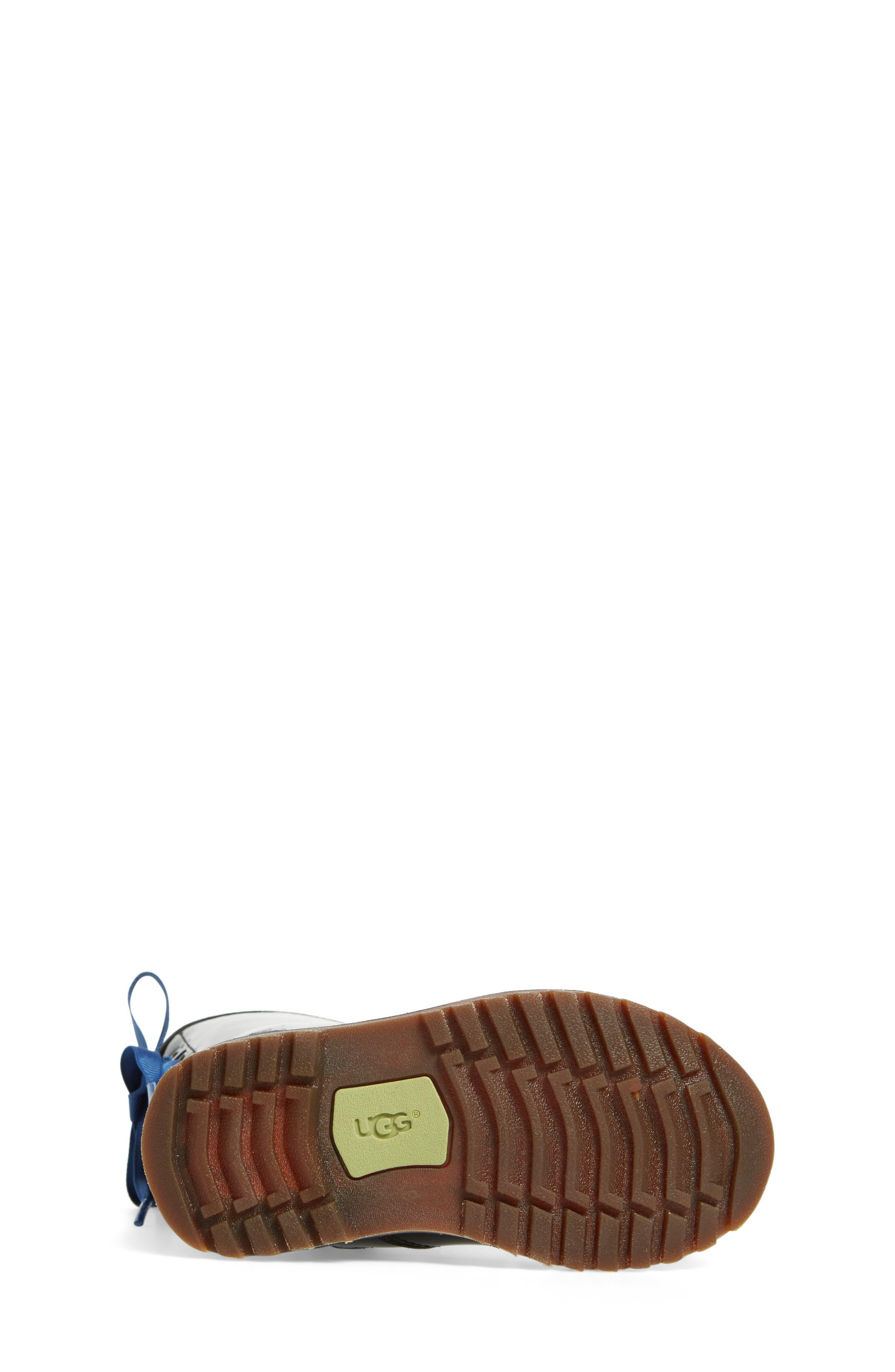 Corene Patent Leather Boot,                             Alternate thumbnail 5, color,                             Black/ Black