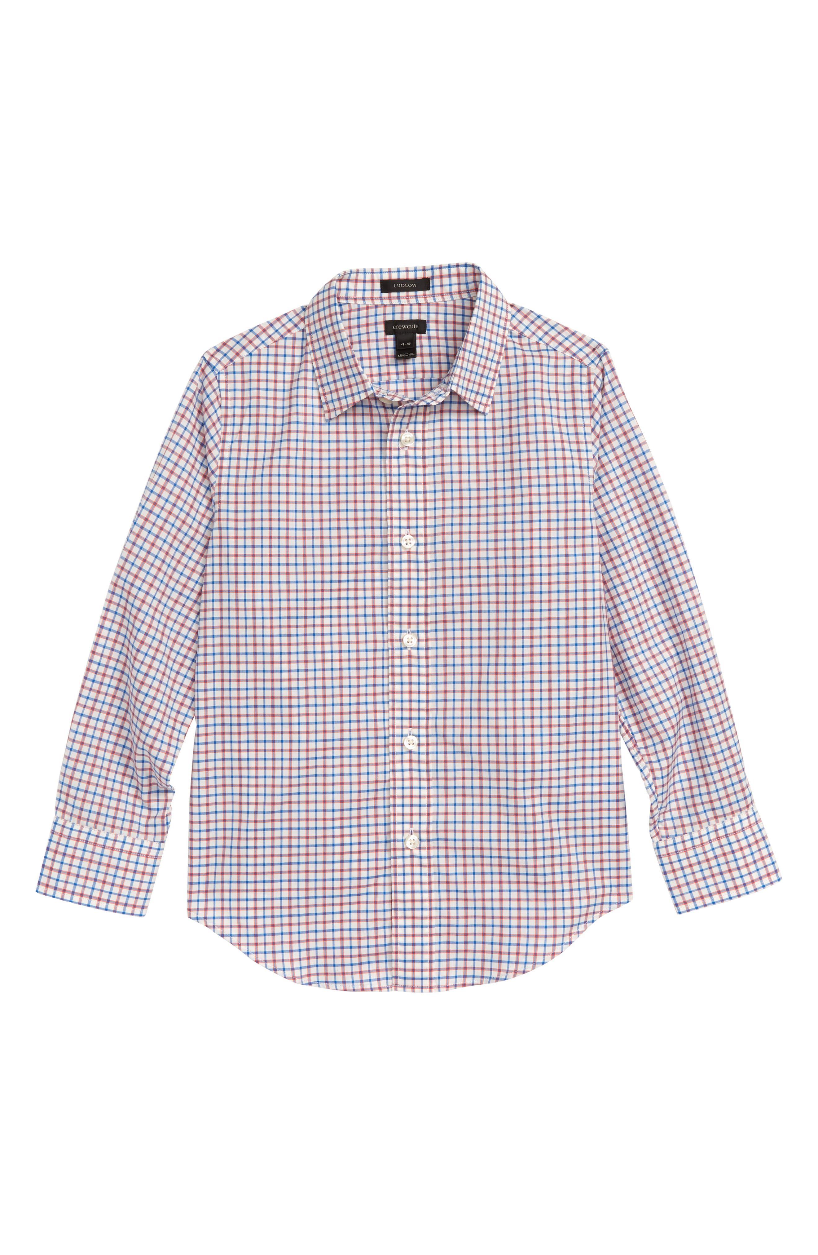 Ludlow Stripe Dress Shirt,                         Main,                         color, Ivory Poppy