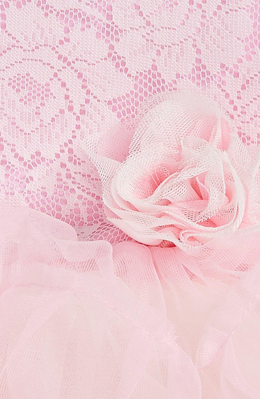 Alternate Image 2  - Popatu Lace Tulle Dress (Baby Girls)