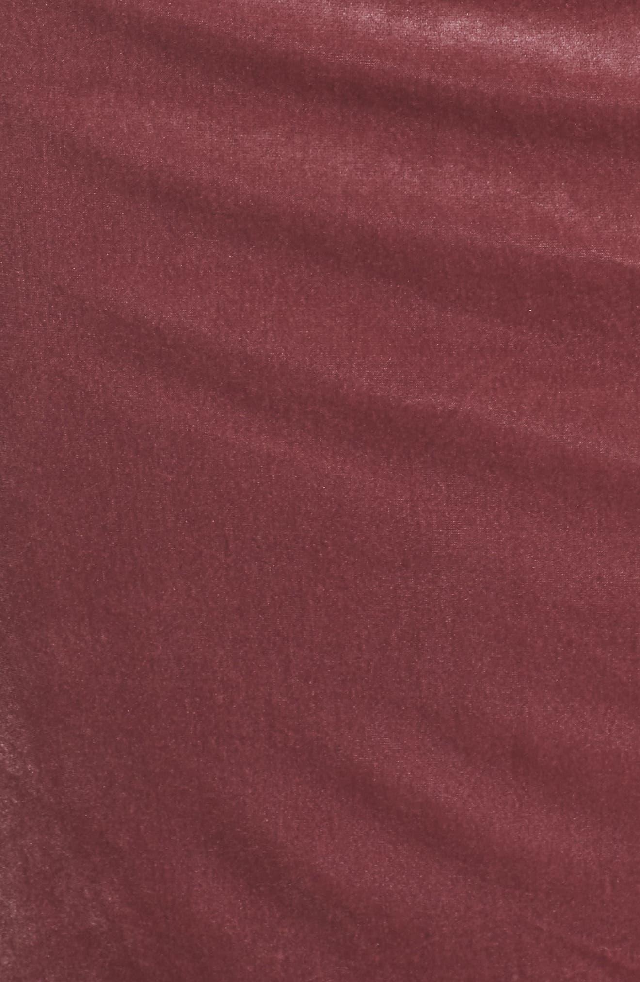 Velvet Sheath Dress,                             Alternate thumbnail 3, color,                             Rose
