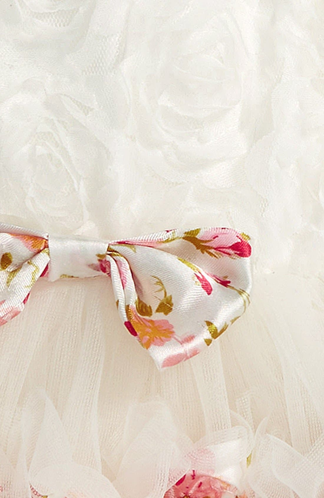 Ribbon Rosette Tutu Dress,                             Alternate thumbnail 2, color,                             White