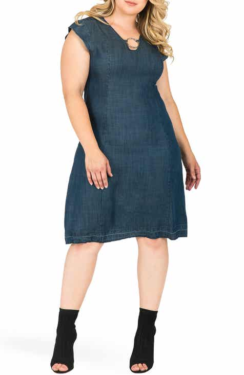Denim Plus Size Dresses Nordstrom