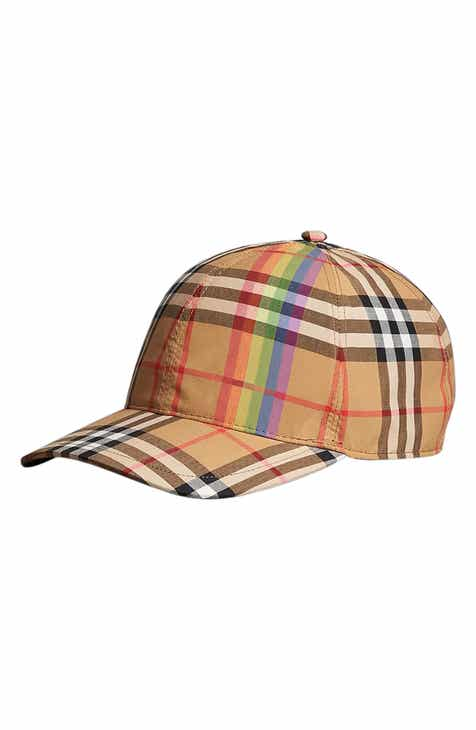 Burberry Rainbow Stripe Vintage Check Baseball Cap 8b470d8ac4