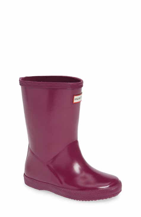 a0e9737067a Hunter 'First Gloss' Rain Boot (Walker, Toddler & Little Kid)