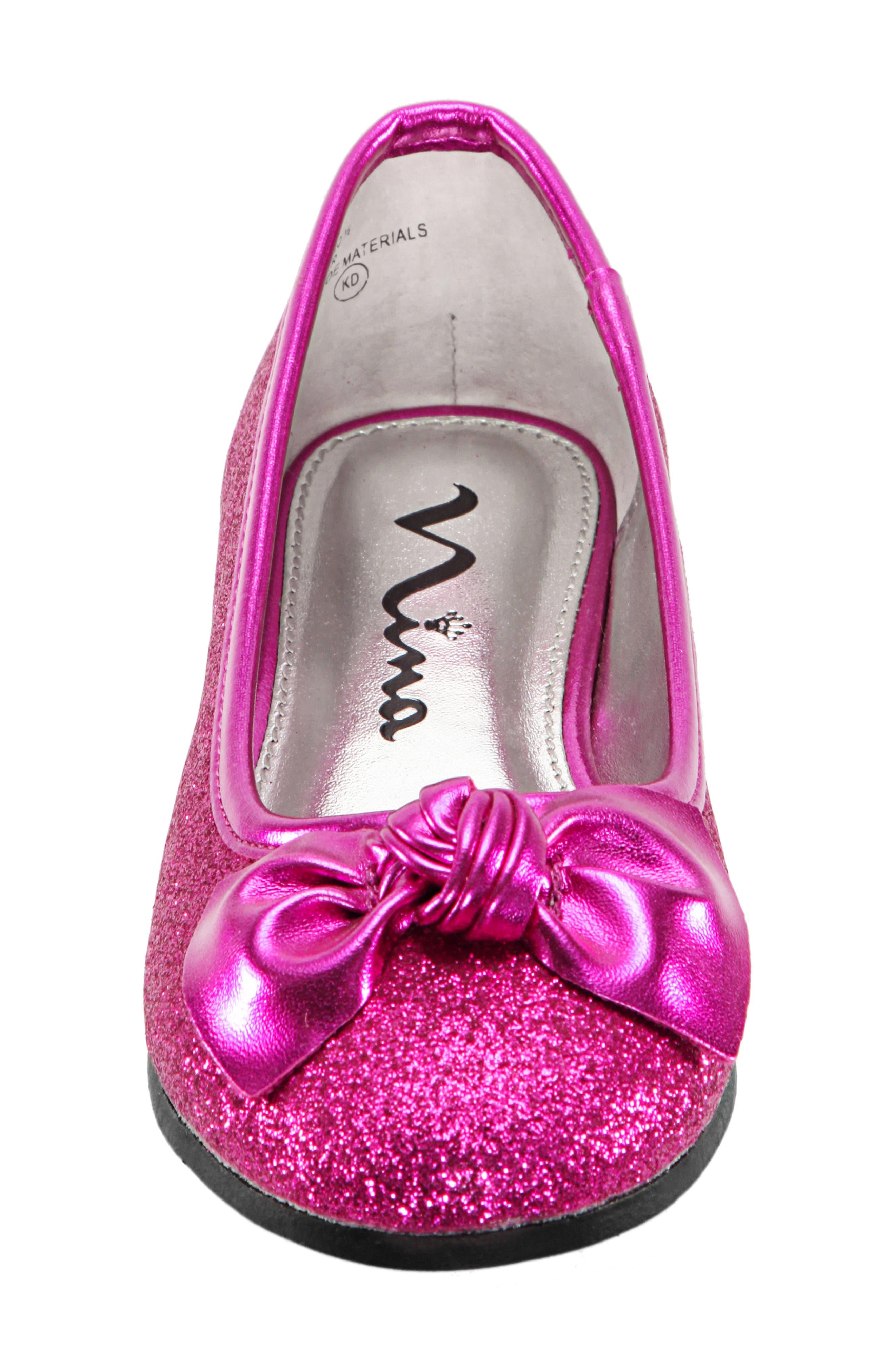 Larabeth Glitter Ballet Flat,                             Alternate thumbnail 5, color,                             Berry Metallic/ Glitter