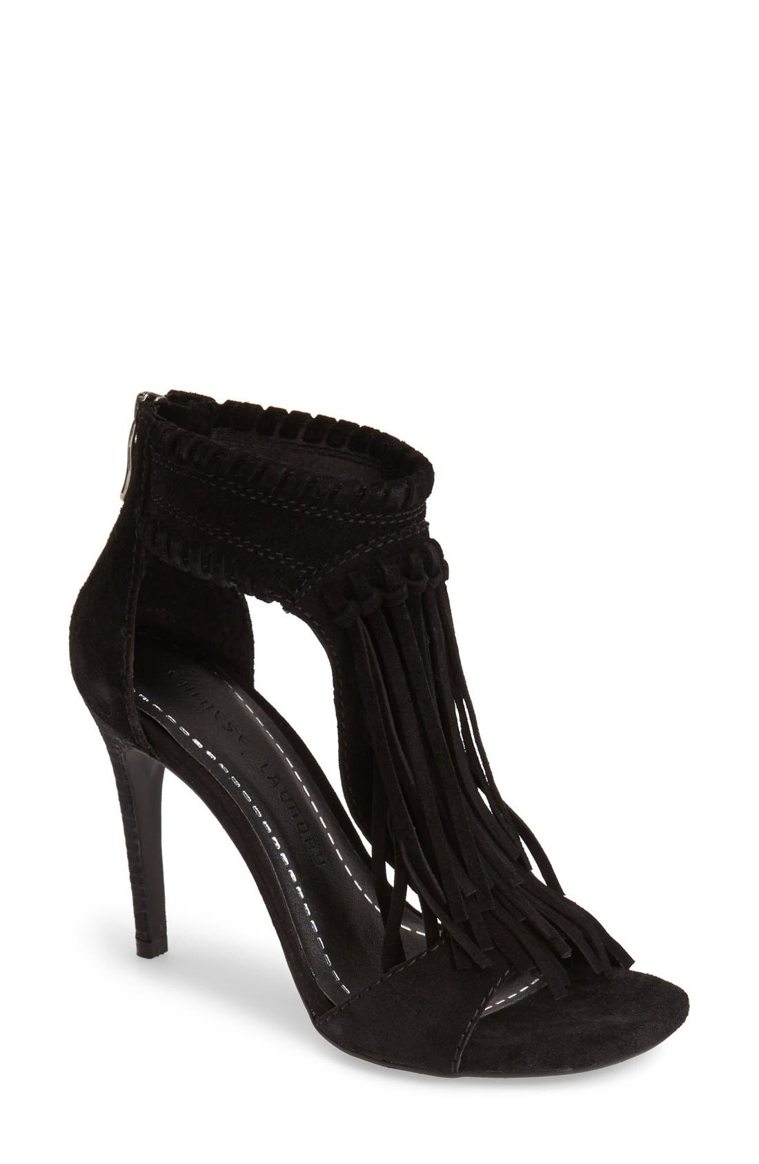 Alternate Image 1 Selected - Chinese Laundry 'Santa Fe' Suede Fringe Sandal (Women)