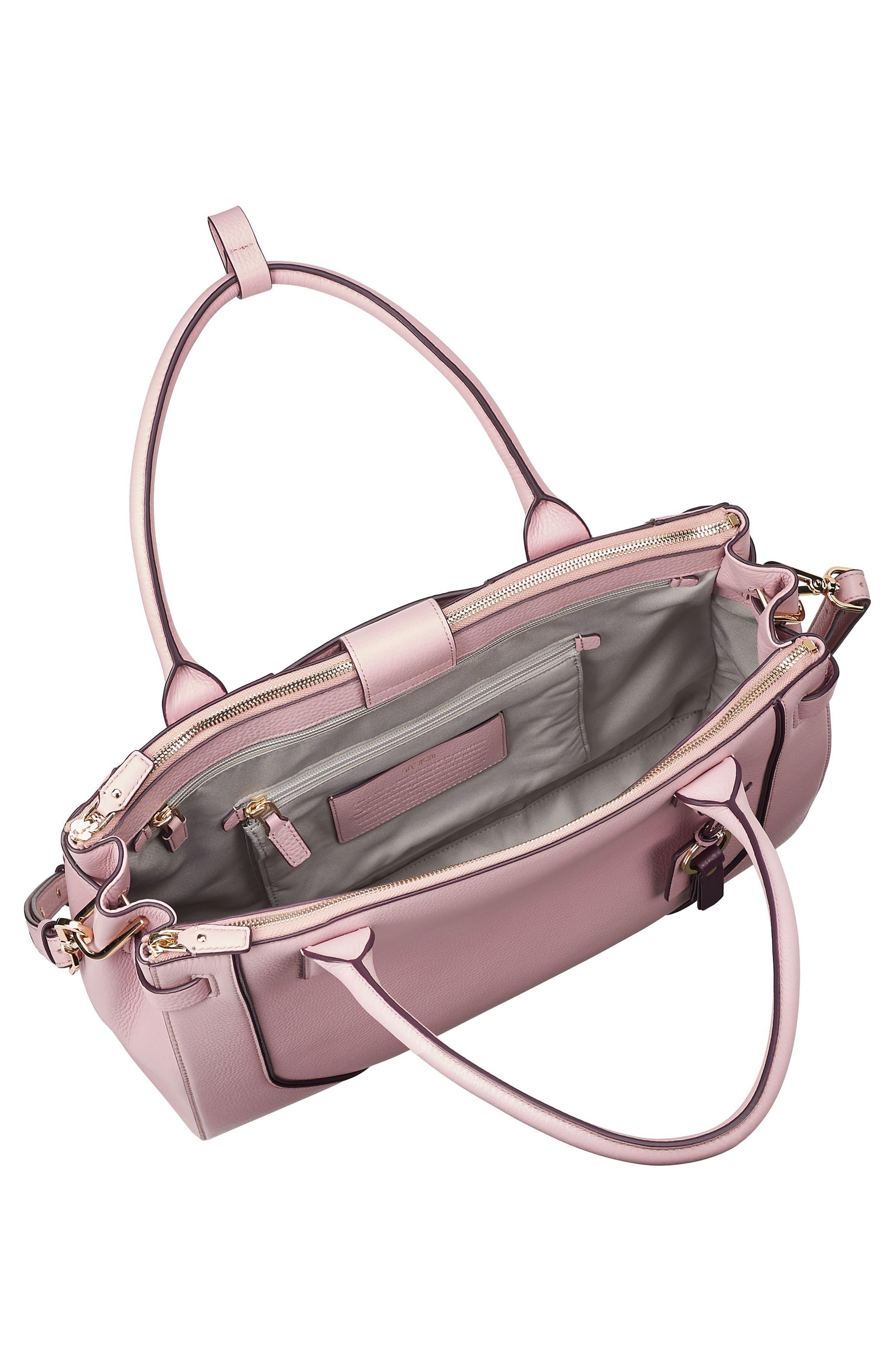 Stanton Kiran Leather Laptop Briefcase,                             Alternate thumbnail 5, color,                             Pink