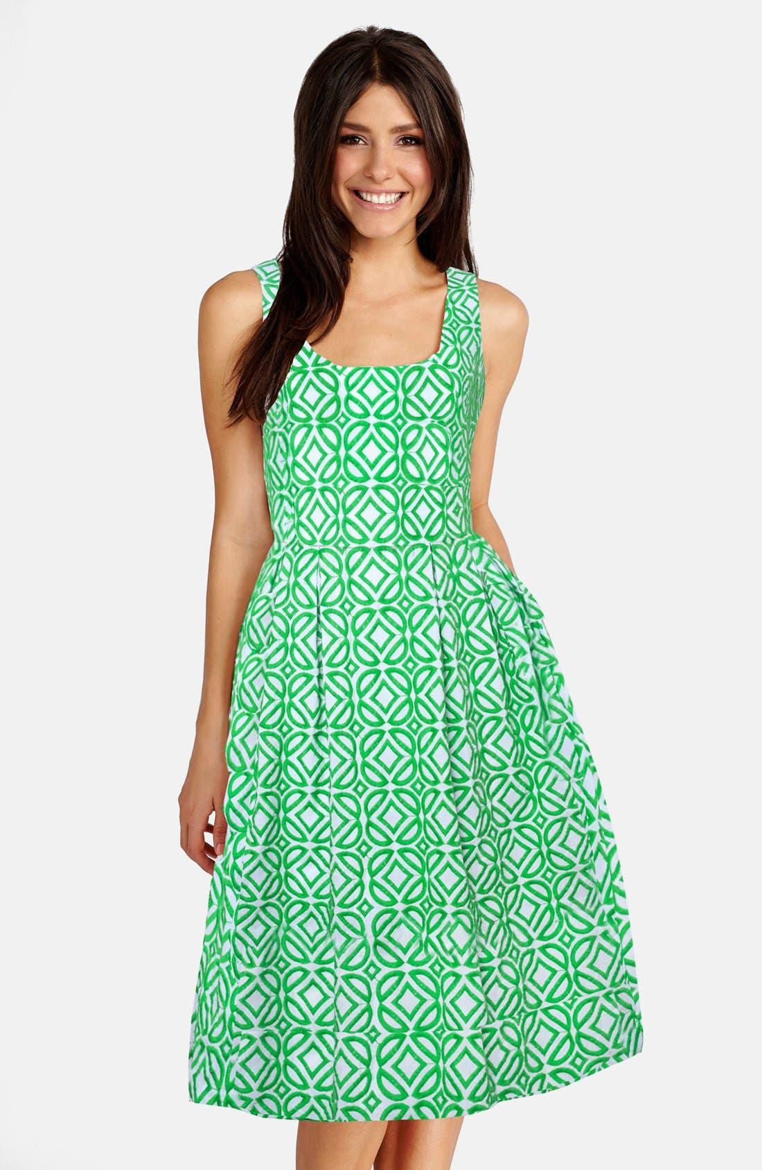 Alternate Image 1 Selected - Donna Morgan Jacquard Fit & Flare Dress