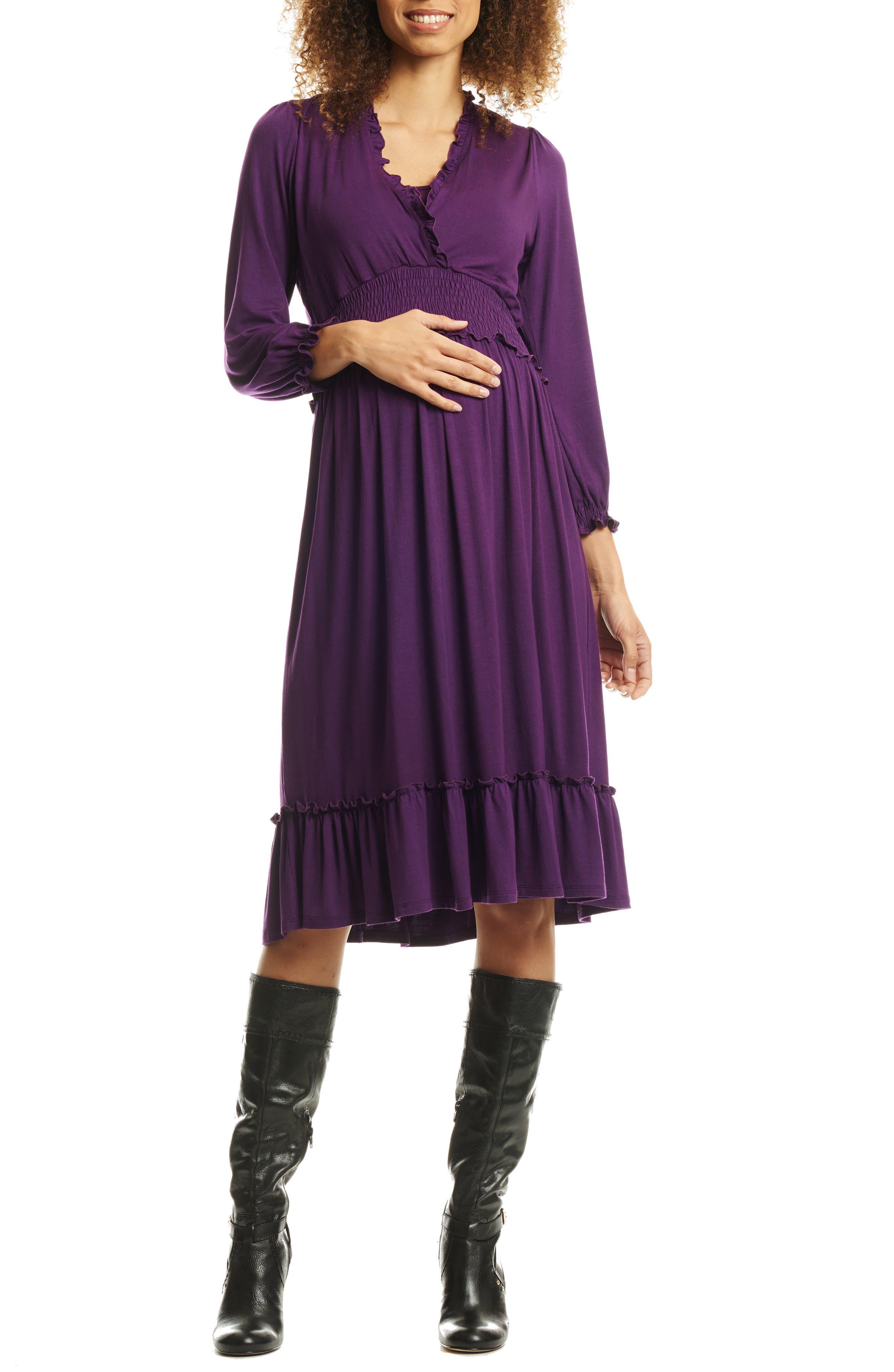 Purple Maternity Pants