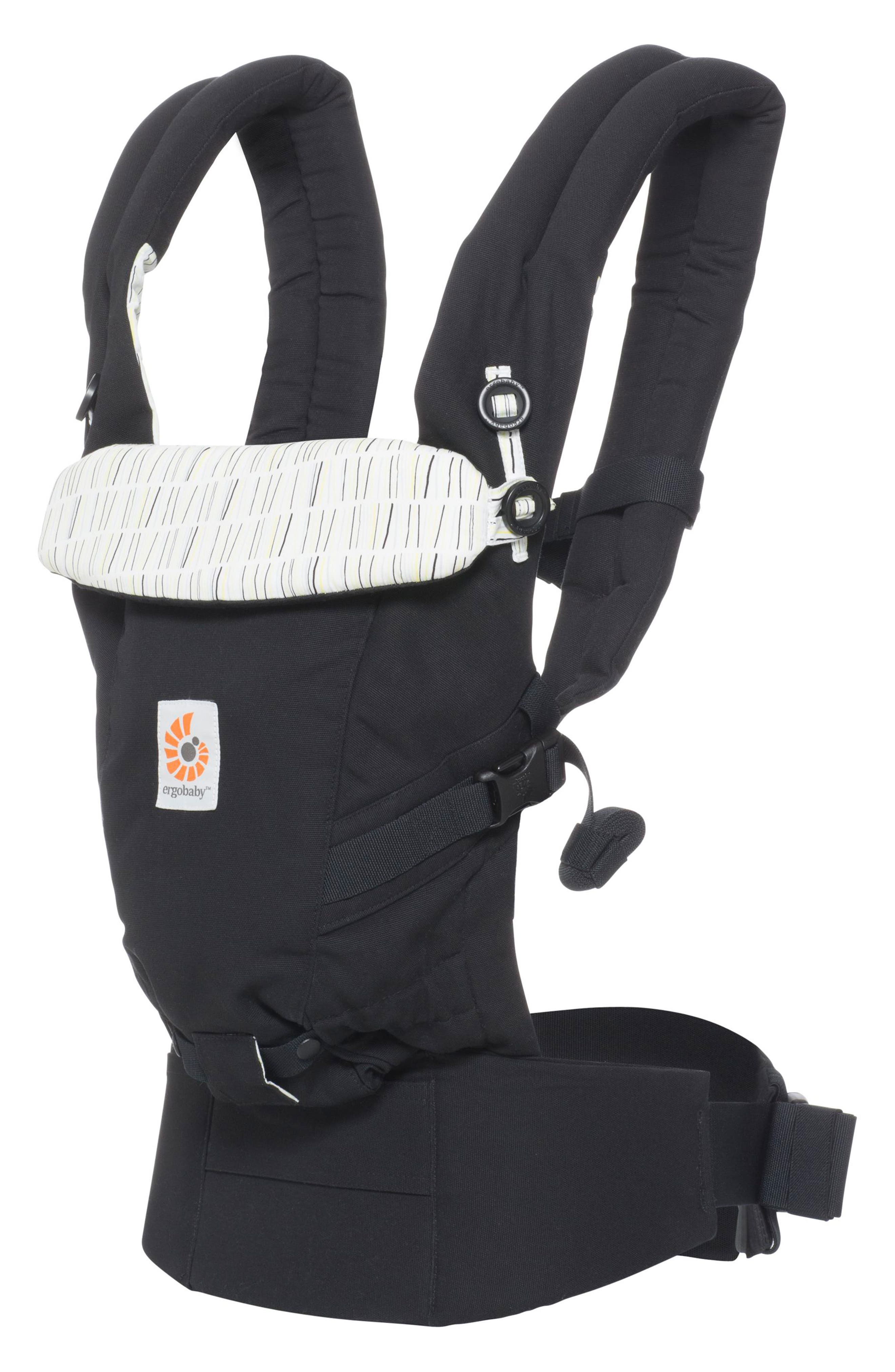 Three Position ADAPT Baby Carrier,                             Main thumbnail 1, color,                             Downtown Black