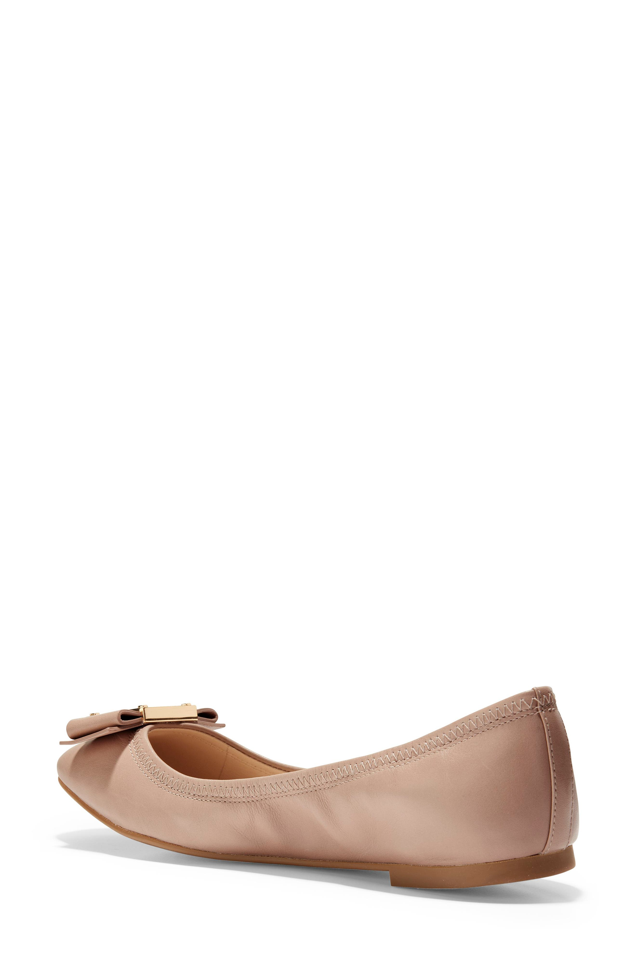 Tali Modern Bow Ballet Flat,                             Alternate thumbnail 2, color,                             Nude Leather