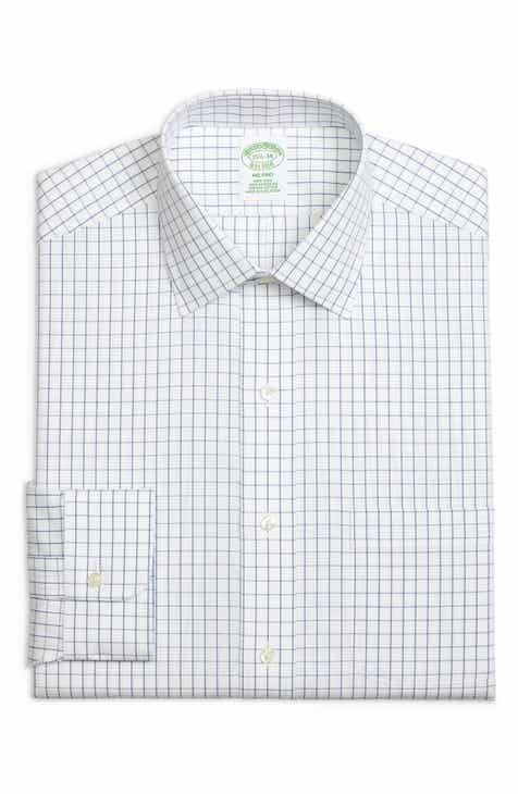 Brooks Brothers Milano Slim Fit Check Dress Shirt (3 for $207)
