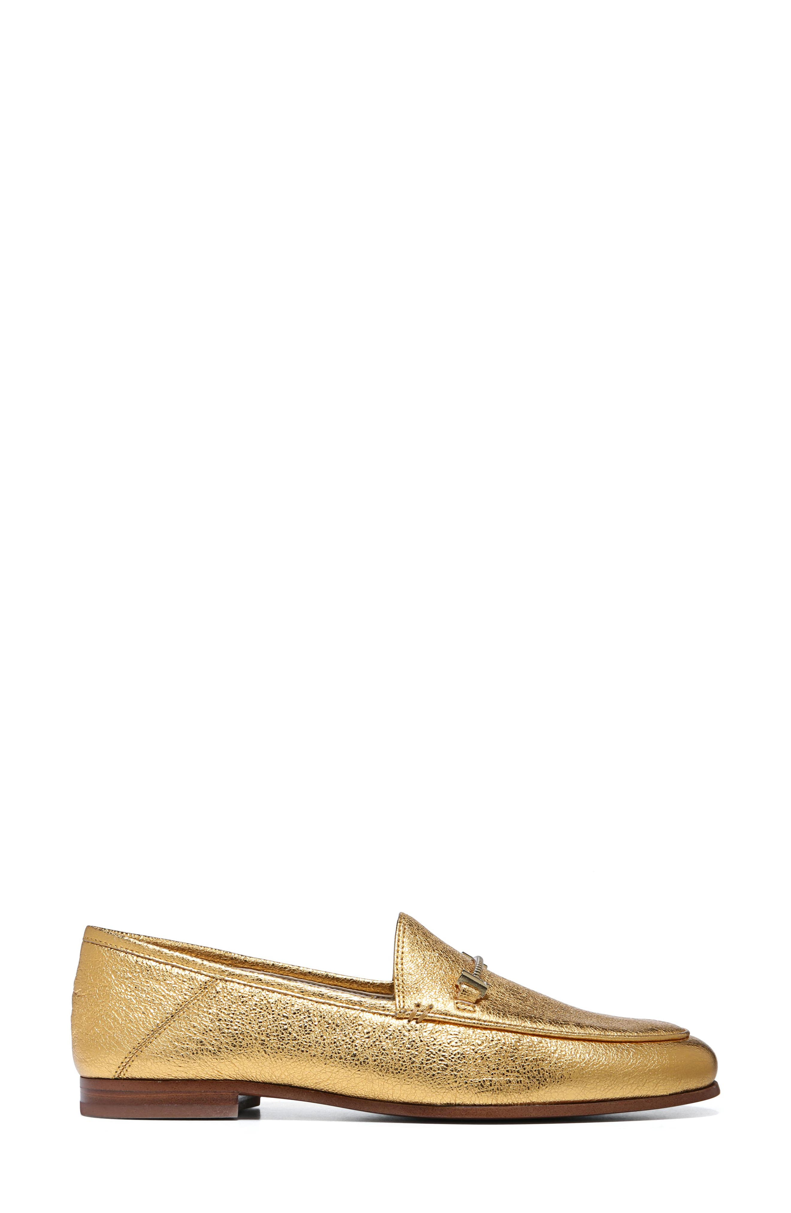 Lior Loafer,                             Alternate thumbnail 4, color,                             Exotic Gold Leather