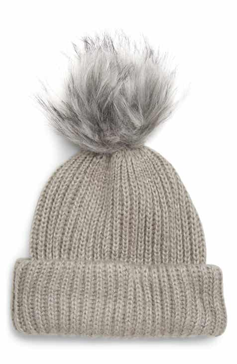 Topshop Faux Fur Pompom Beanie 80137ff8b