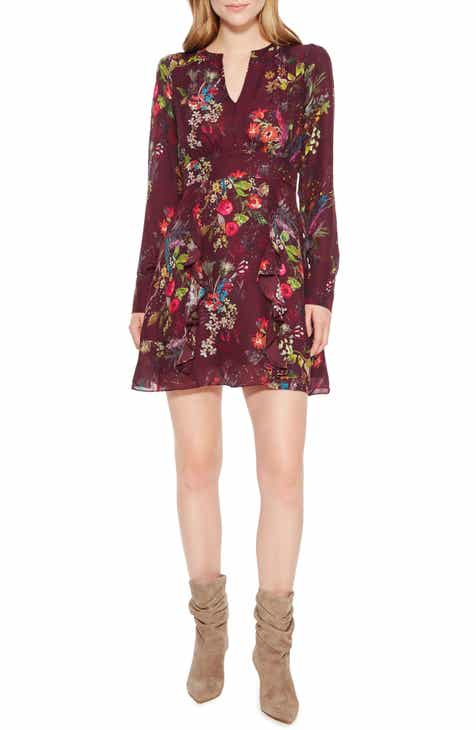 Parker Brooke Ruffle Silk Blend Dress