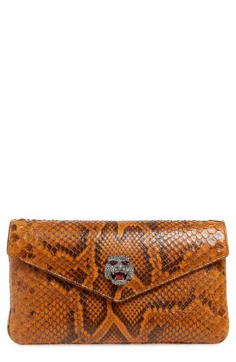 Gucci Broadway Genuine Python Envelope Clutch ecd05906b7