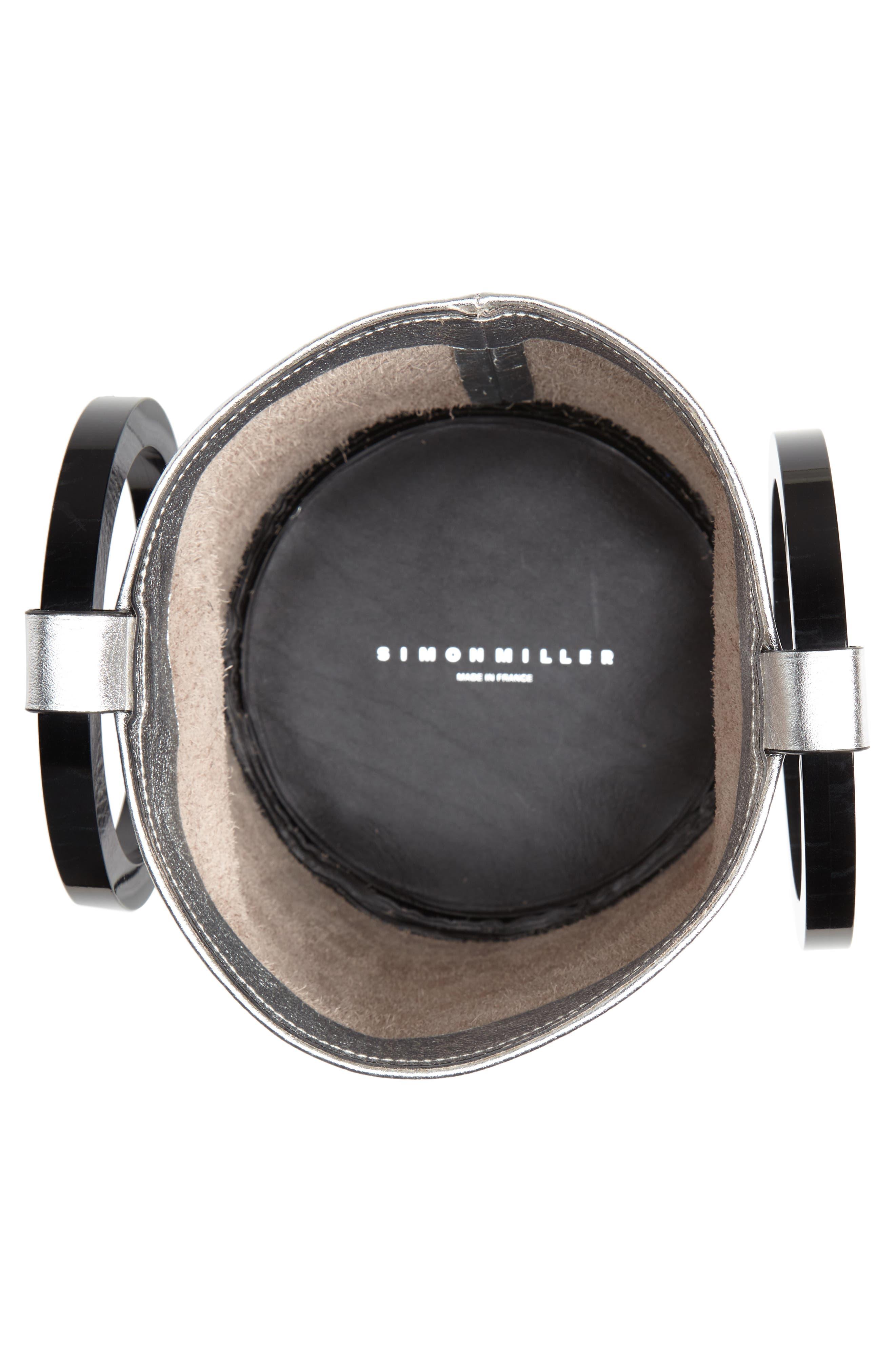 Bonsai 20 Pebbled Leather Bucket Bag,                             Alternate thumbnail 7, color,                             Silver